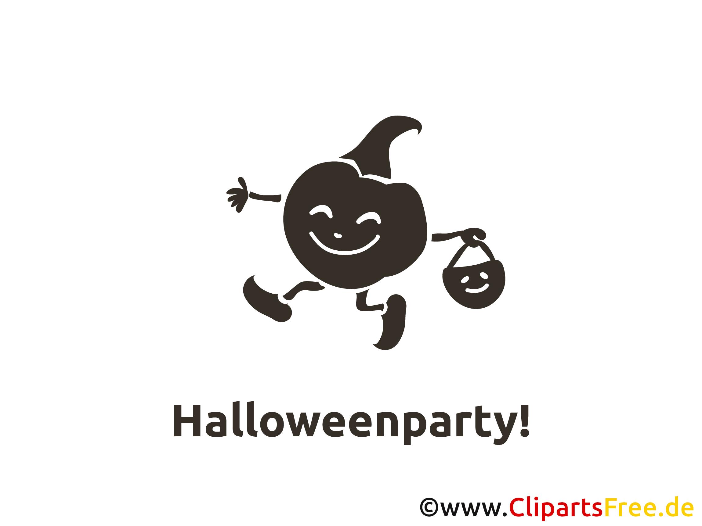Schwarz Kürbis Halloween Malvorlage-Einladung