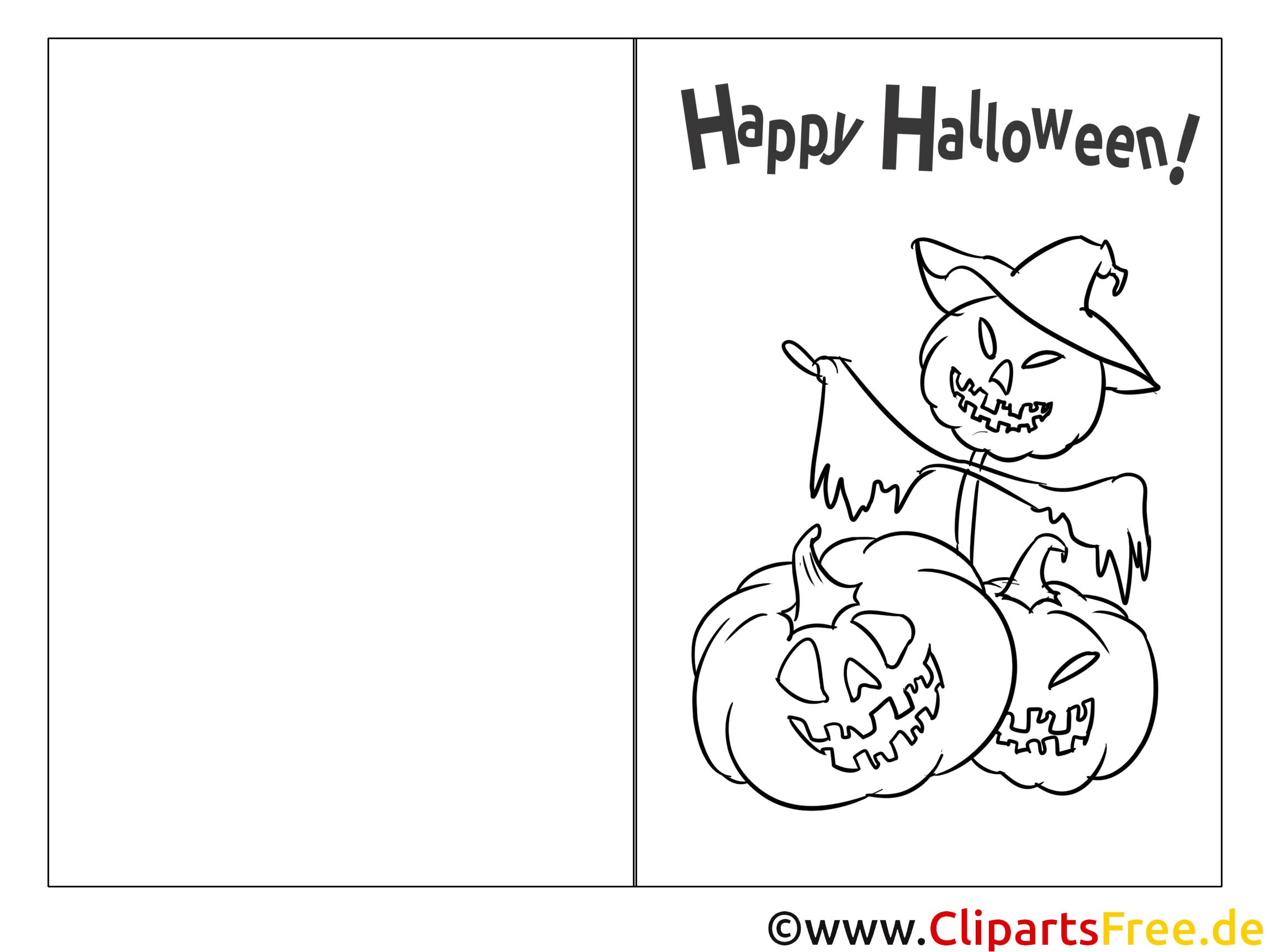 Template Halloween Card