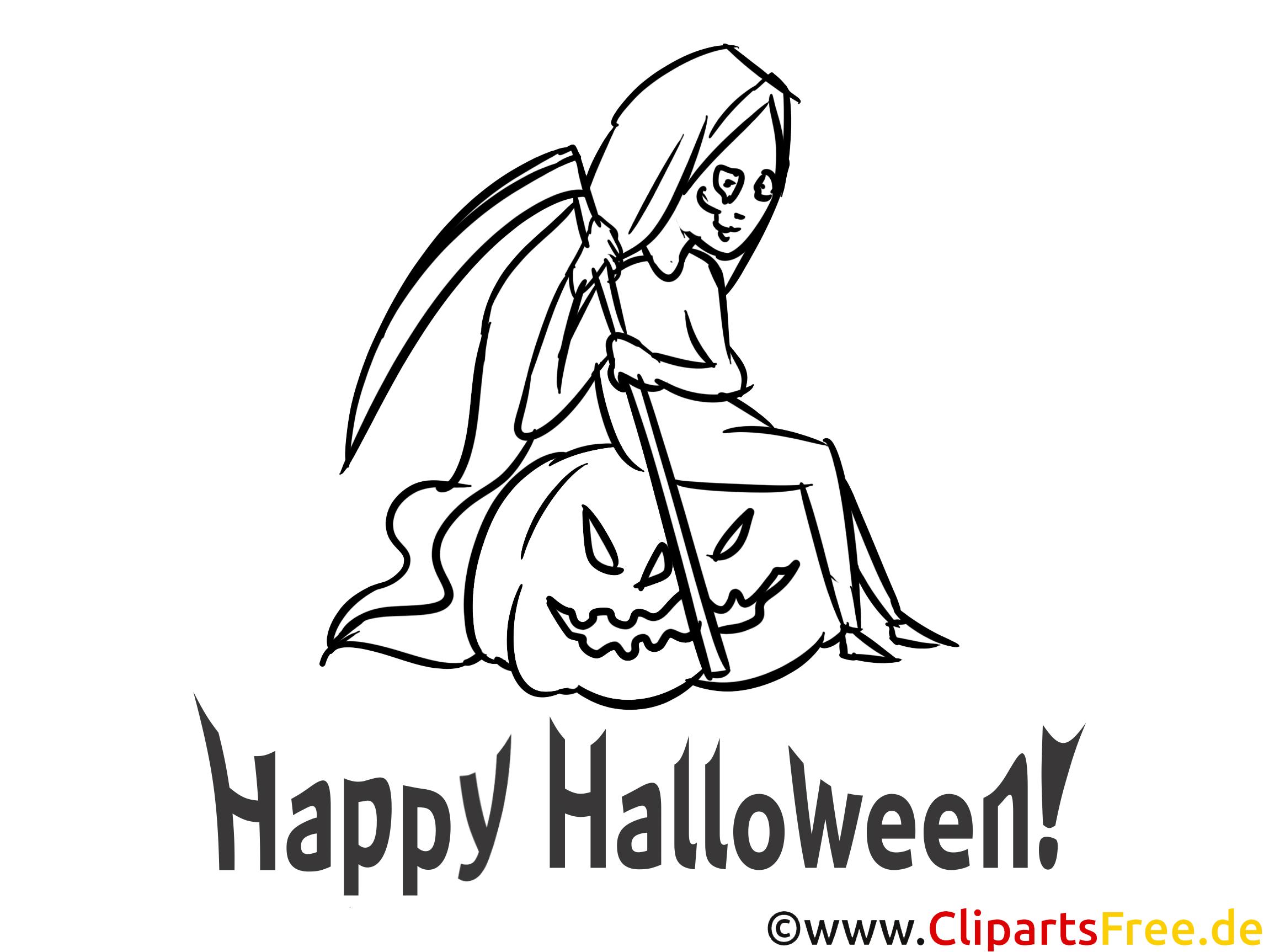 Vorlage zum Ausmalen zu Halloween