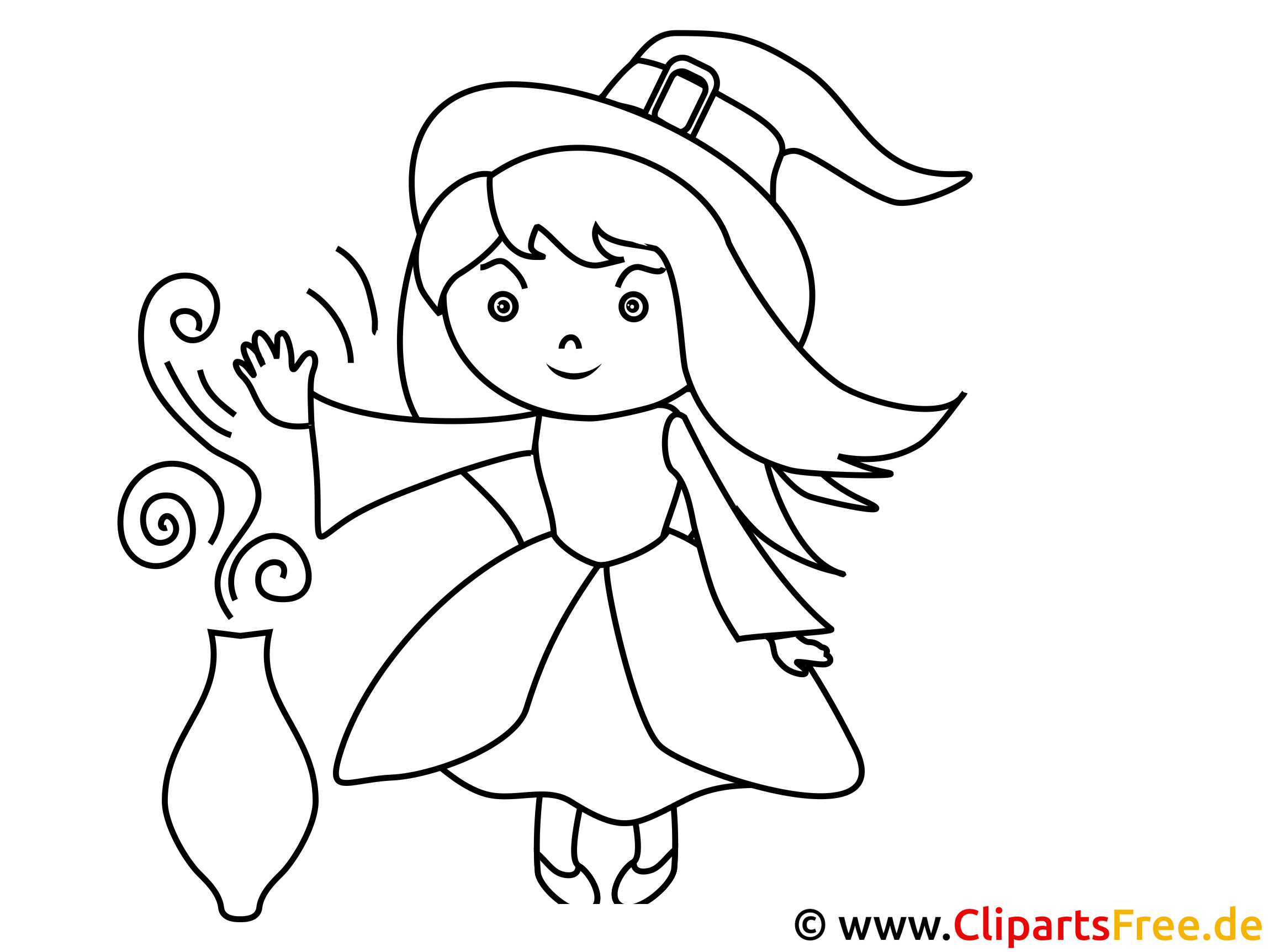 Withcraft Pic for Coloring and Printing
