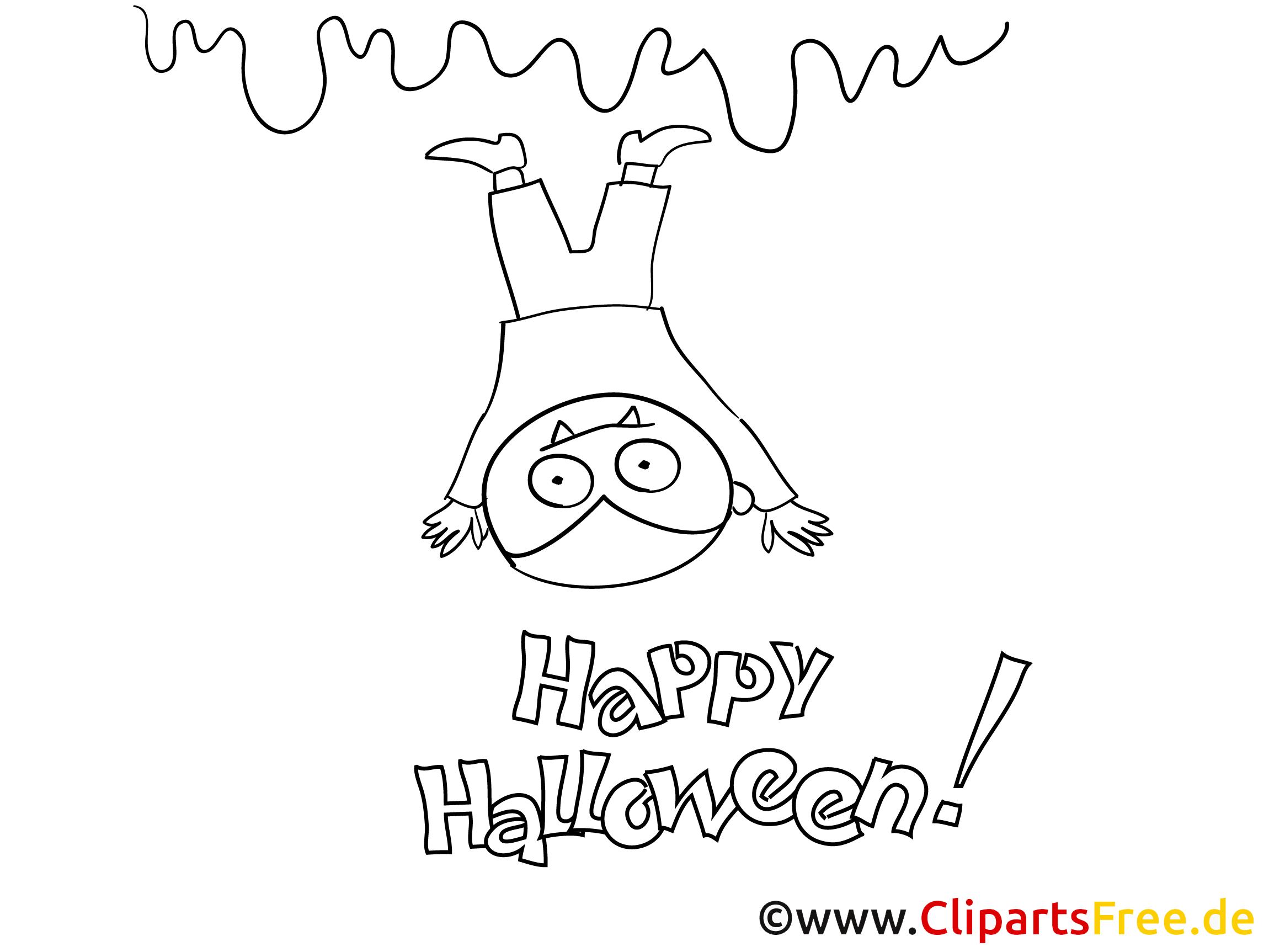 Witzige Bilder zu Halloween zum Ausmalen