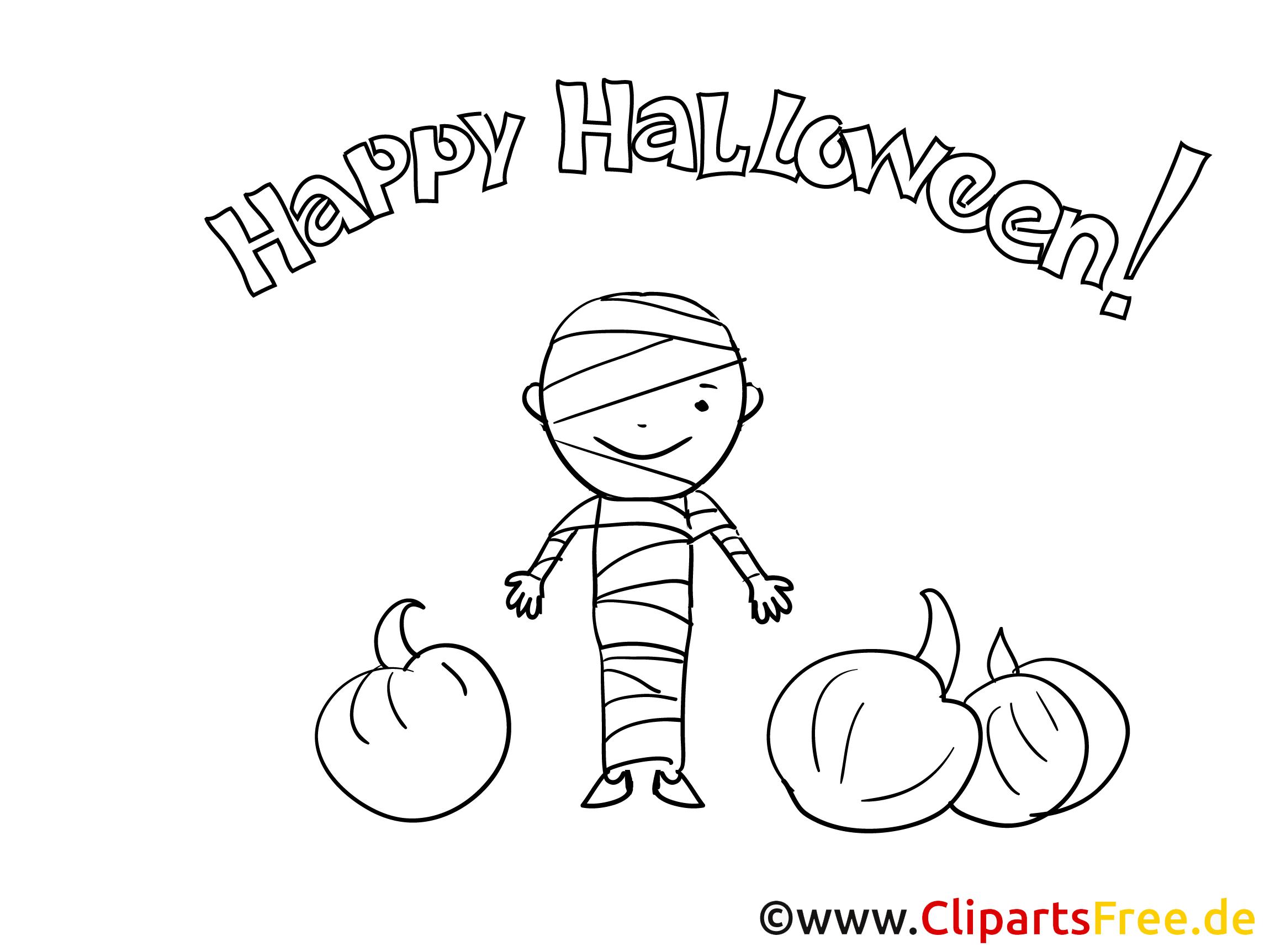 Witzige Malvorlage zu Halloween