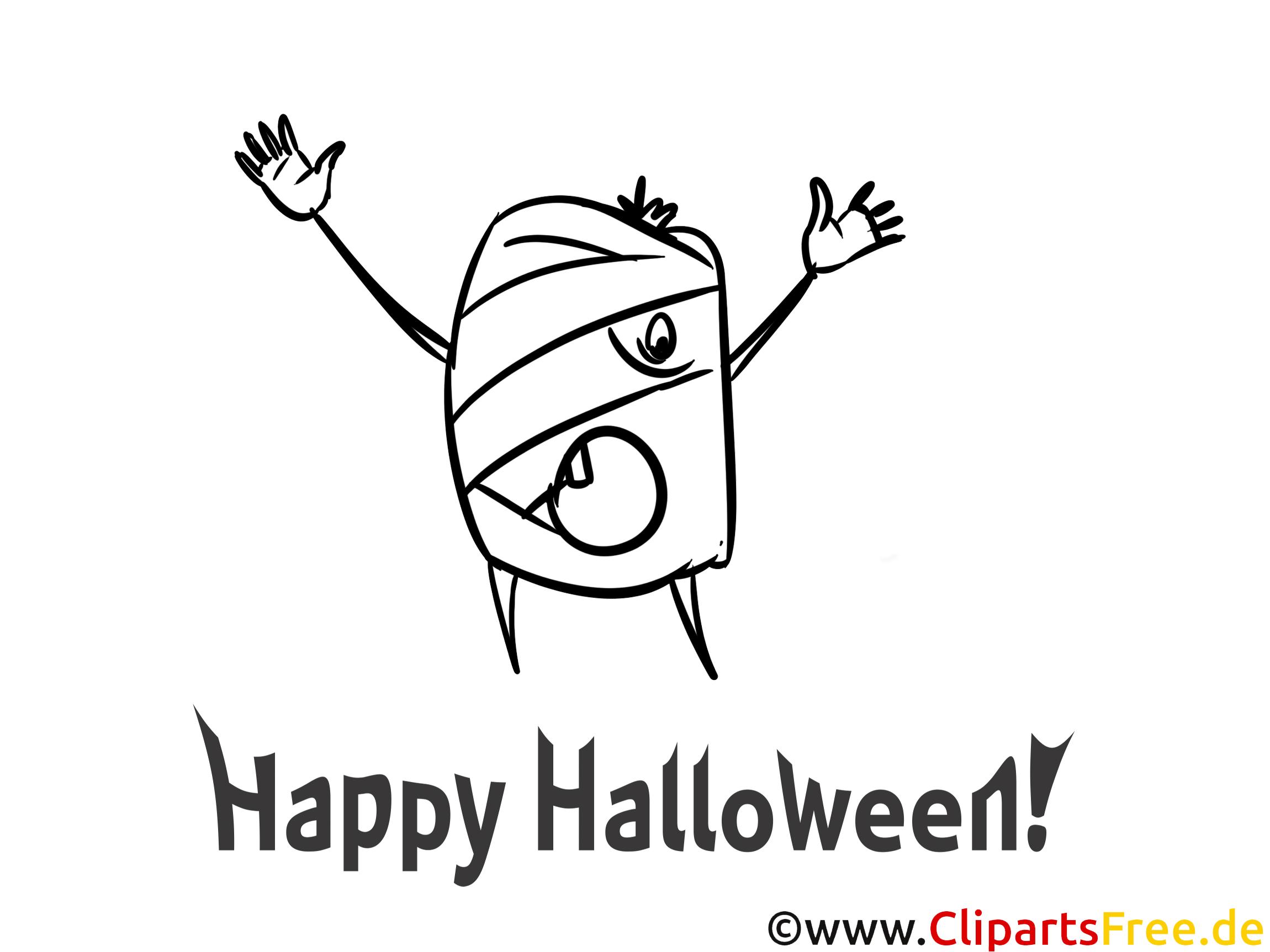 Witzige Malvorlagen zu Halloween