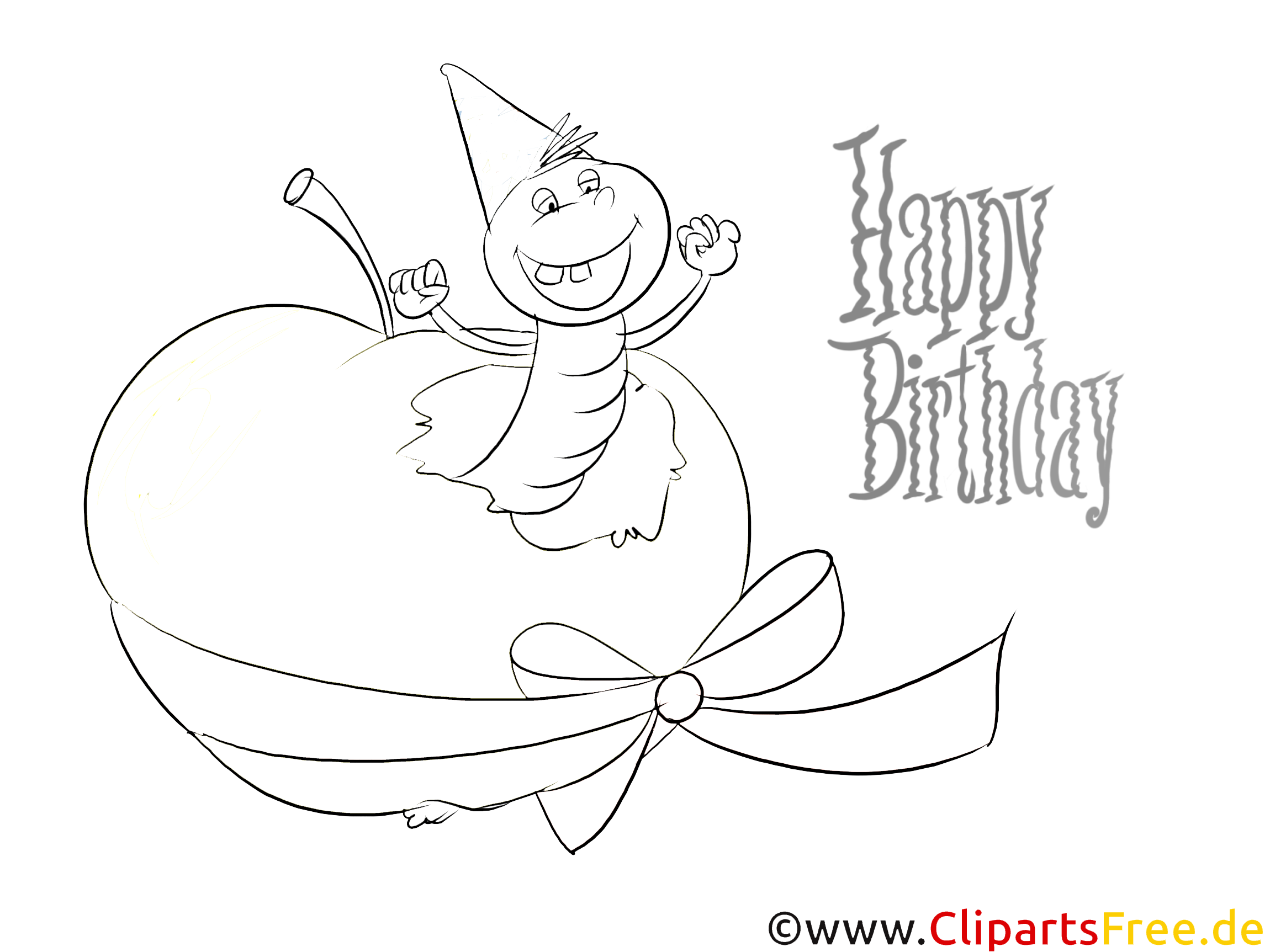 funny coloring to birthday for free