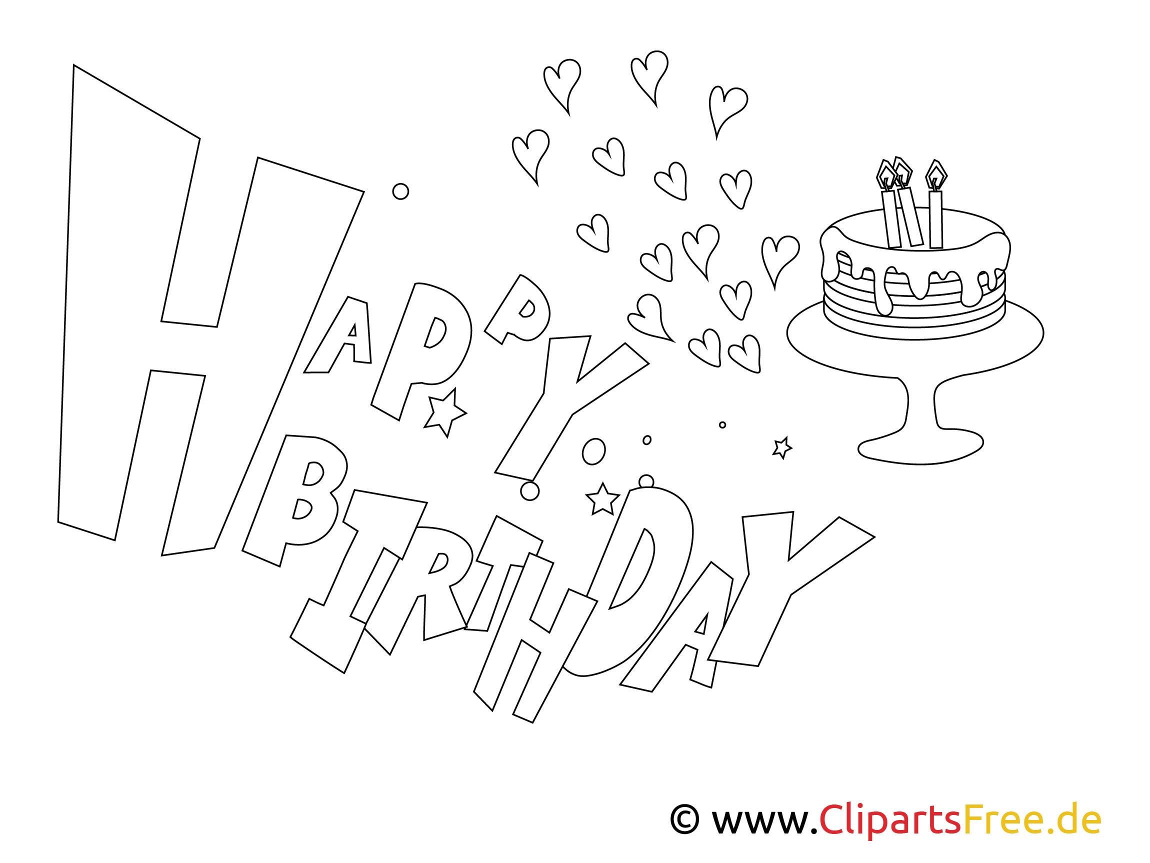 kartkakolorowanka happy birthday