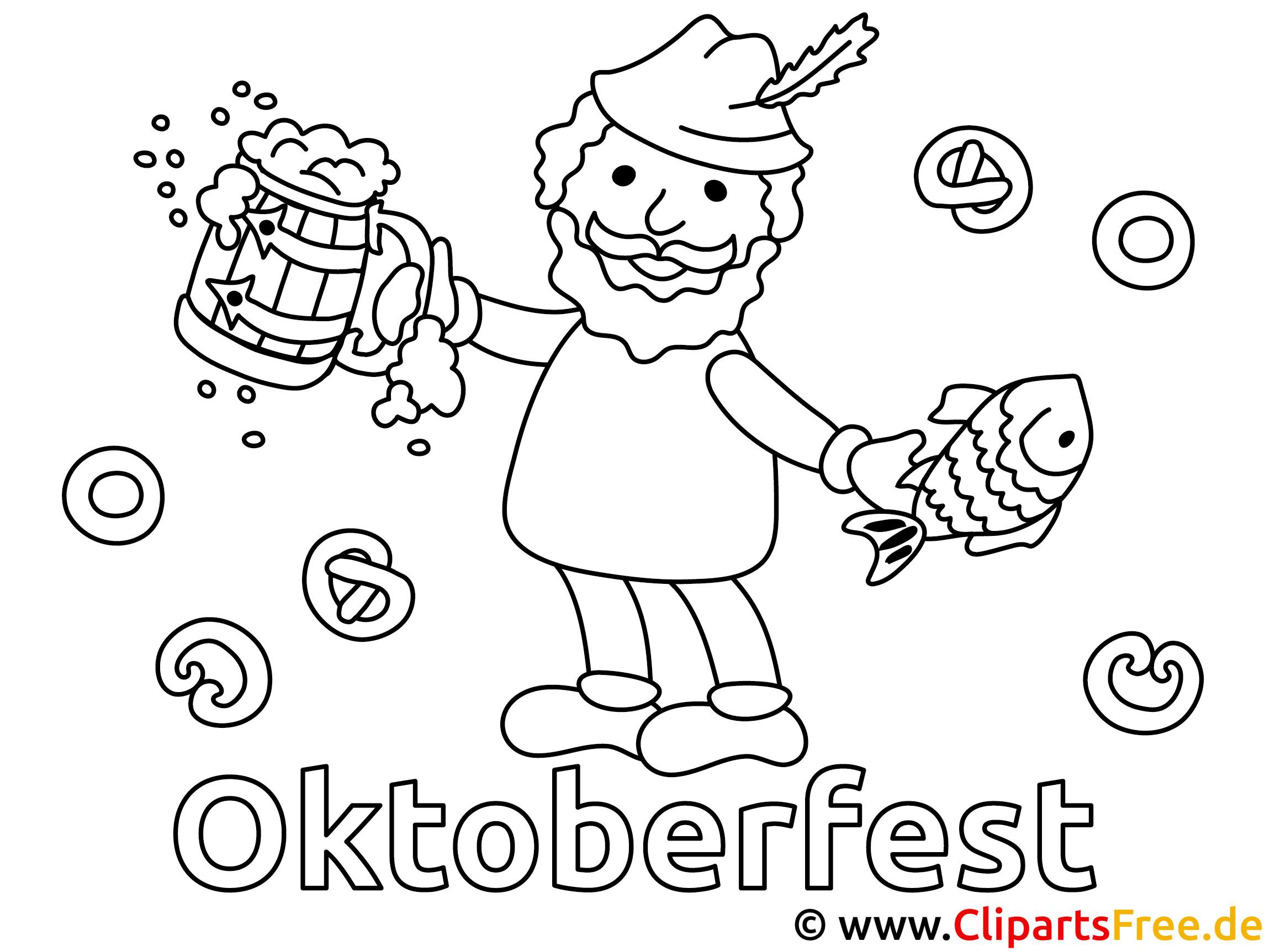 Ausmalbilder zum Oktoberfest