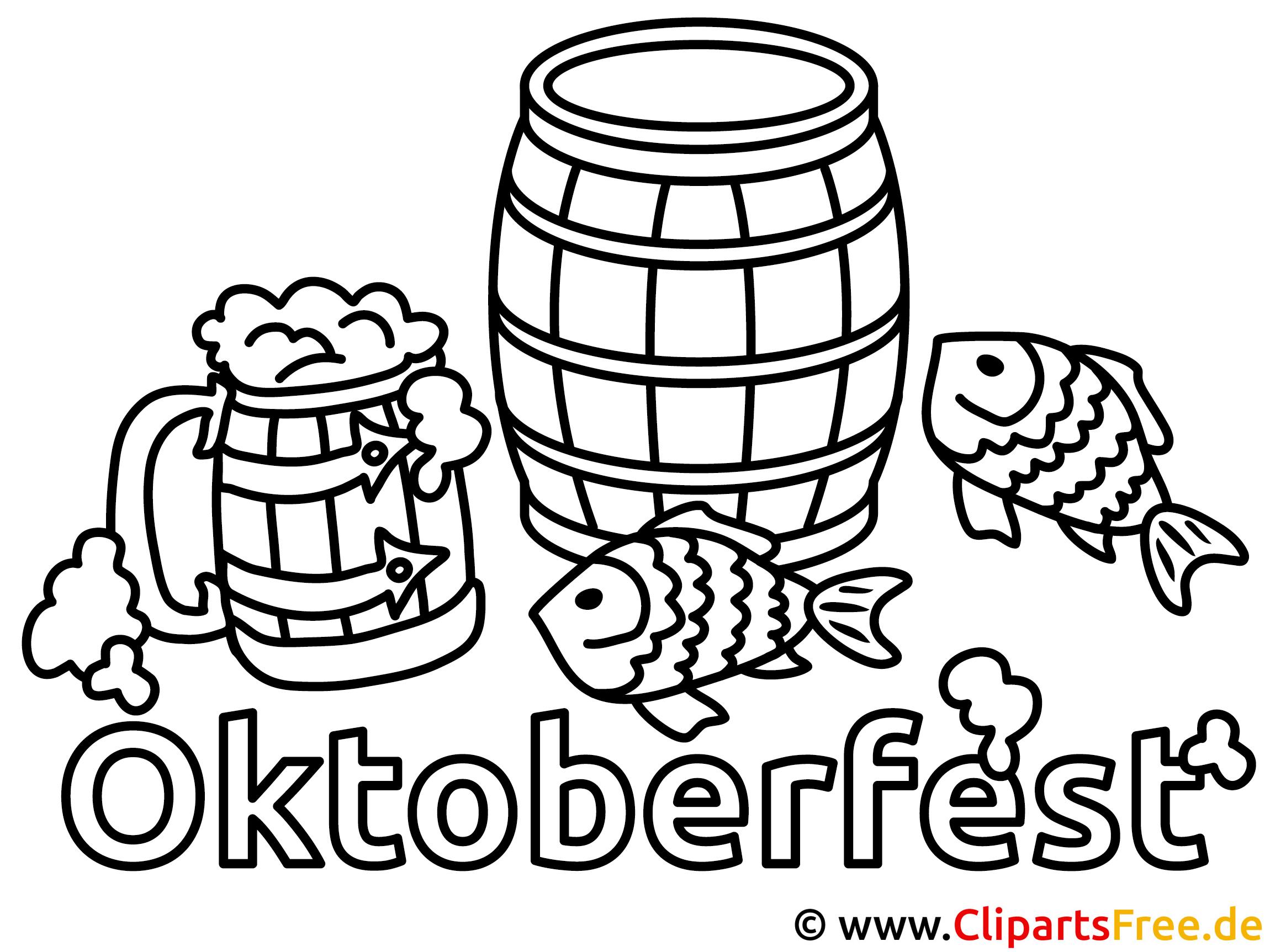 Bier Oktoberfest Ausmalbild