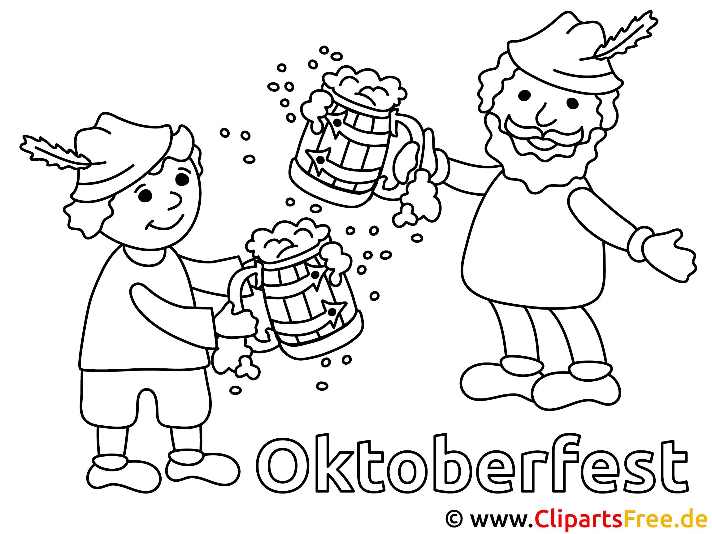 Malvorlagen zum Oktoberfest