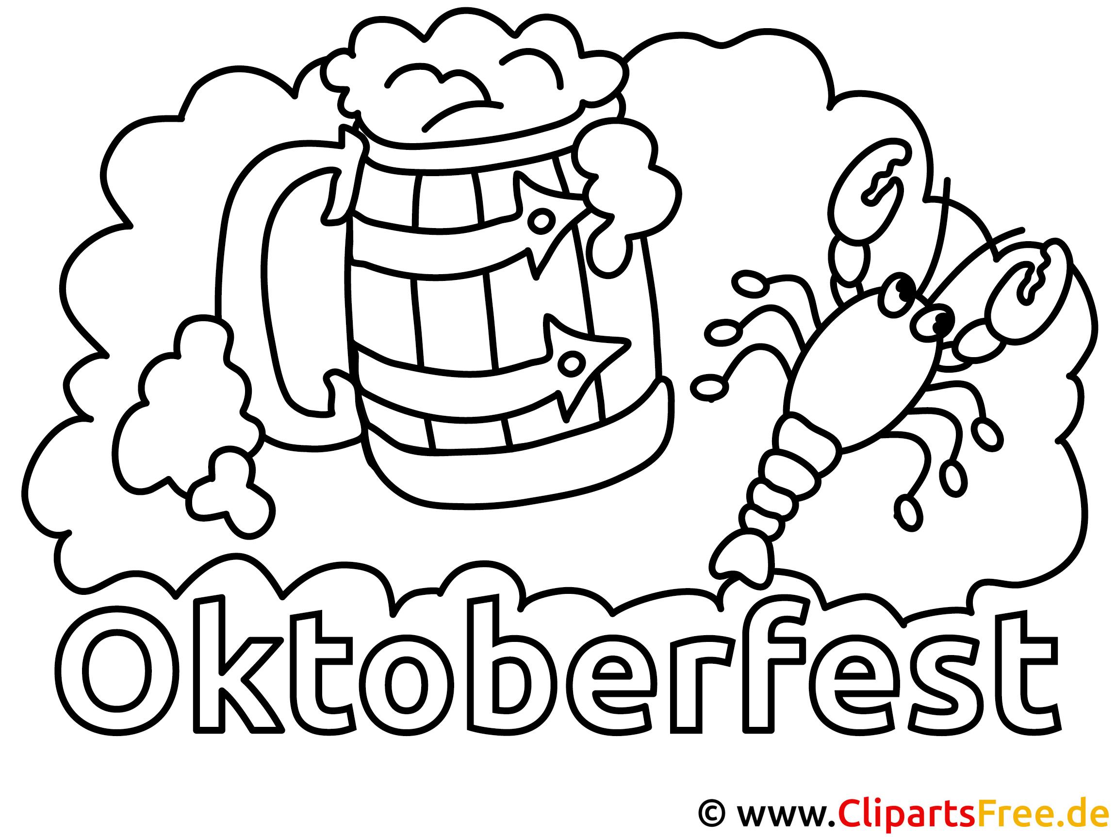 Oktoberfest Bild zum Ausmalen