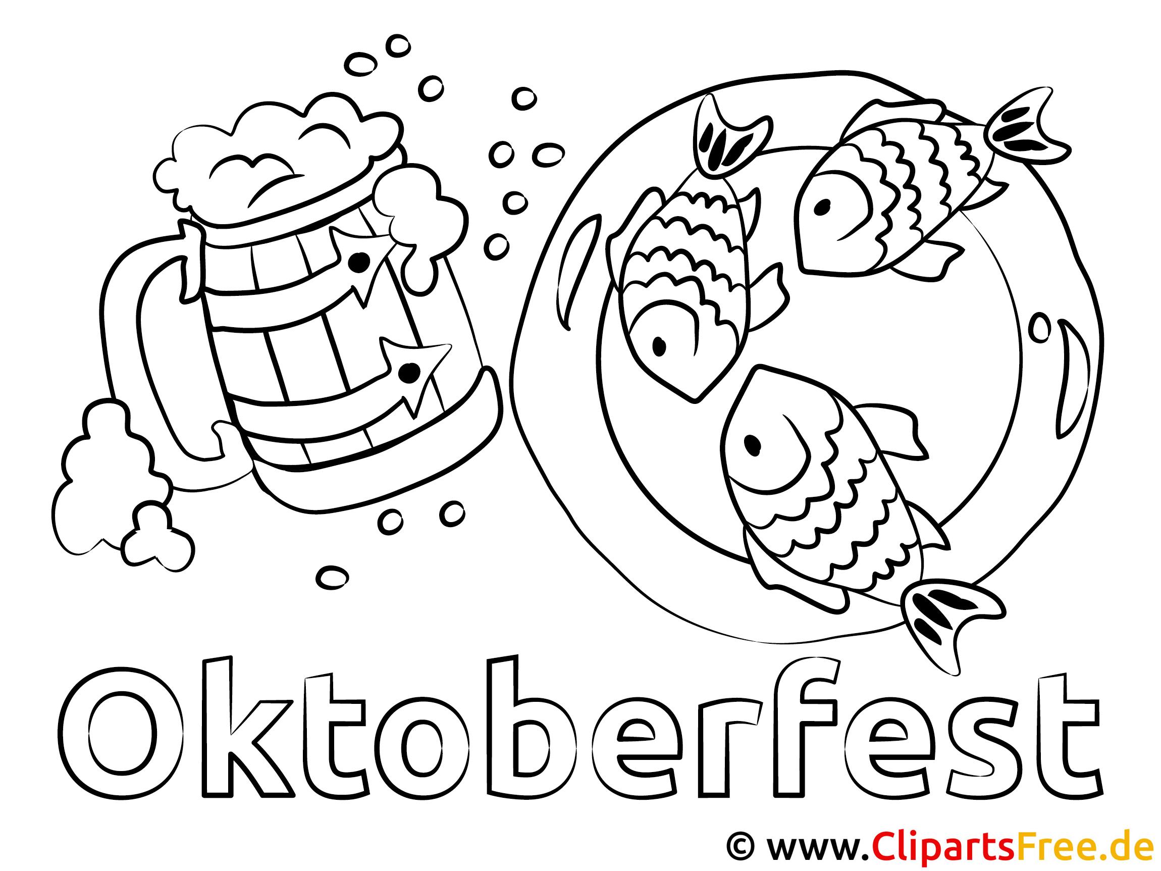 Oktoberfest kostenlose Ausmalbilder