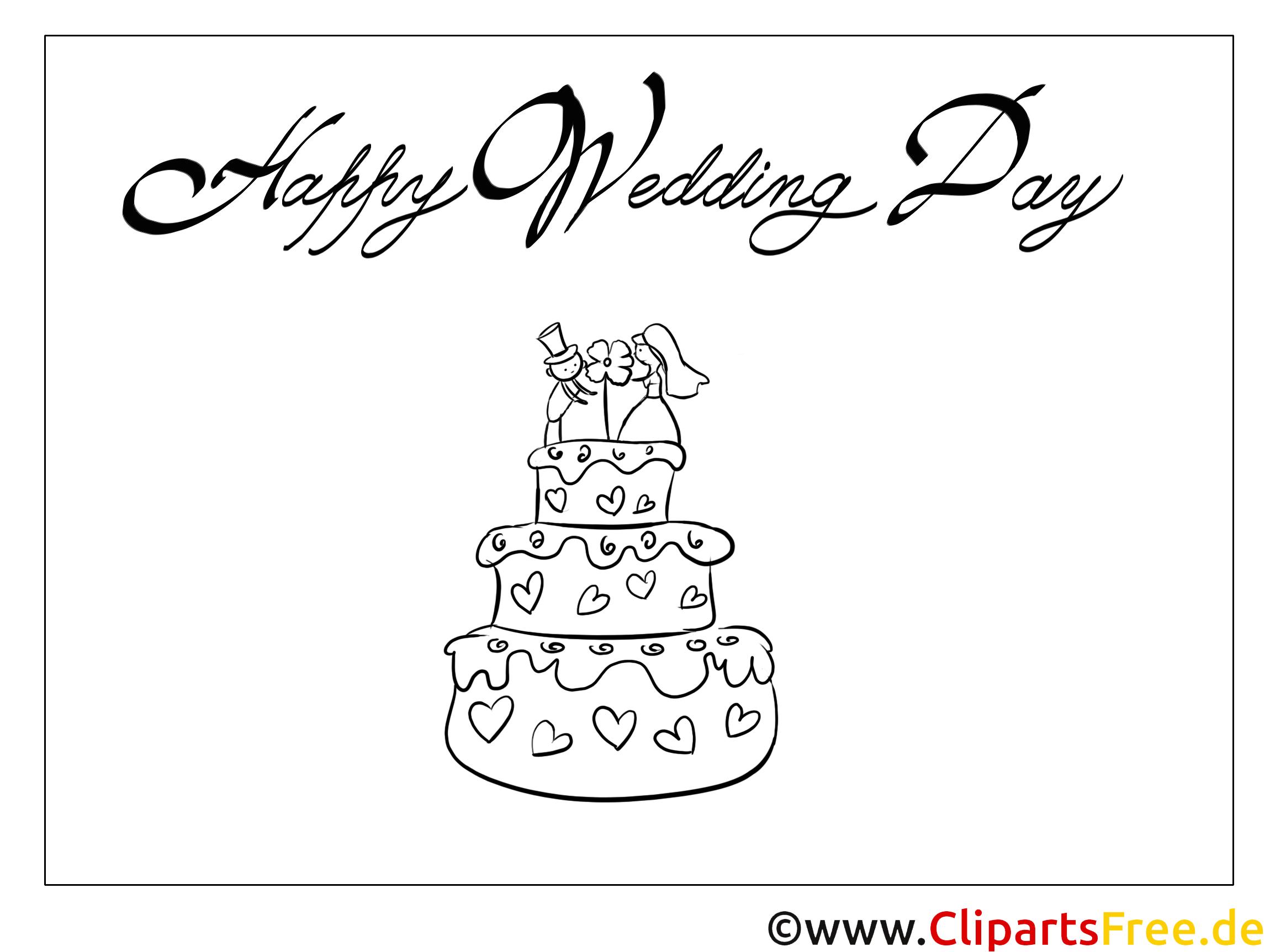 Figurine Brautpaar Torte Malvorlagen-Glückwünsche zur Hochzeit