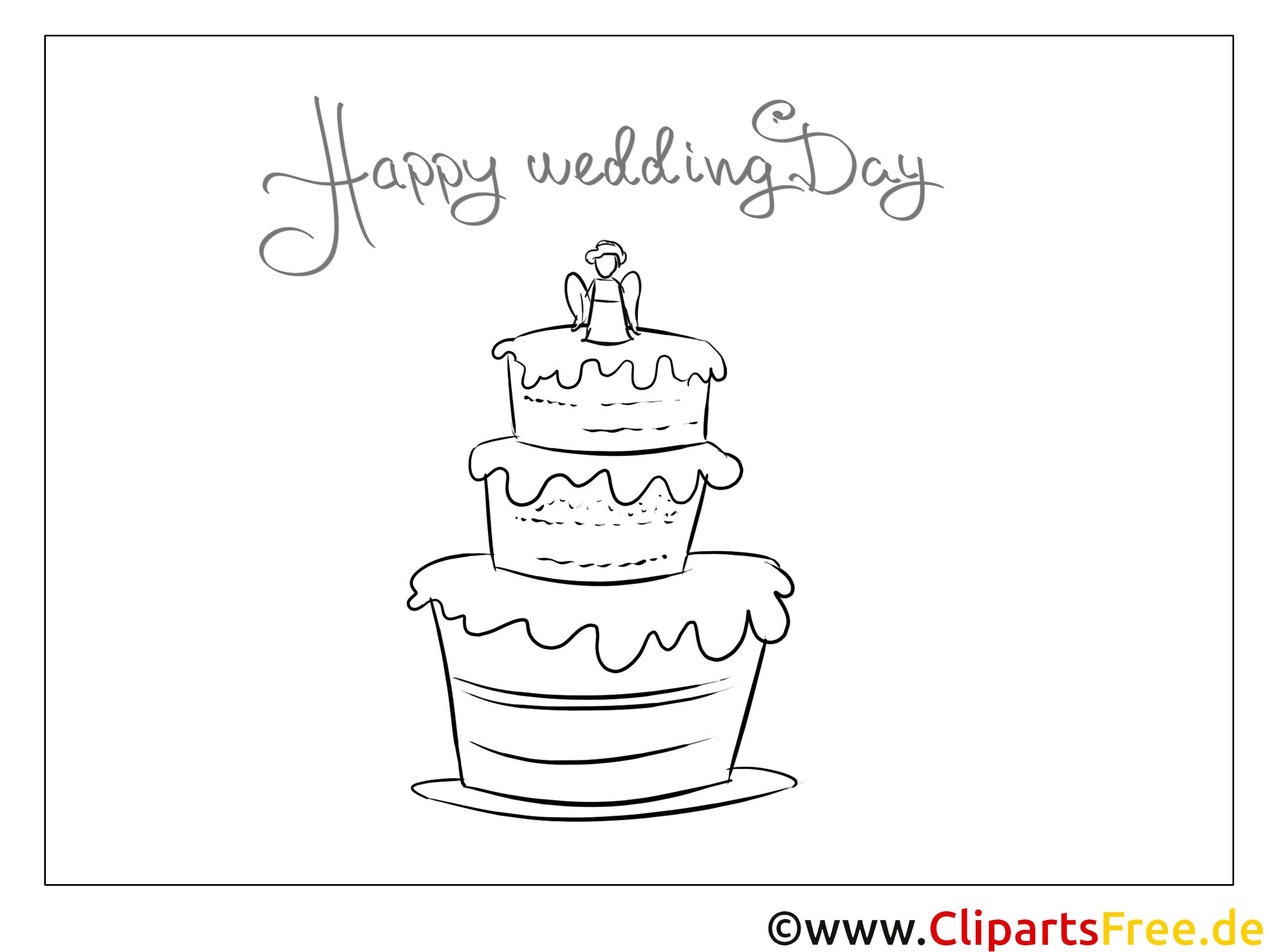 Torte Creme Malvorlagen-Glückwünsche zur Hochzeit