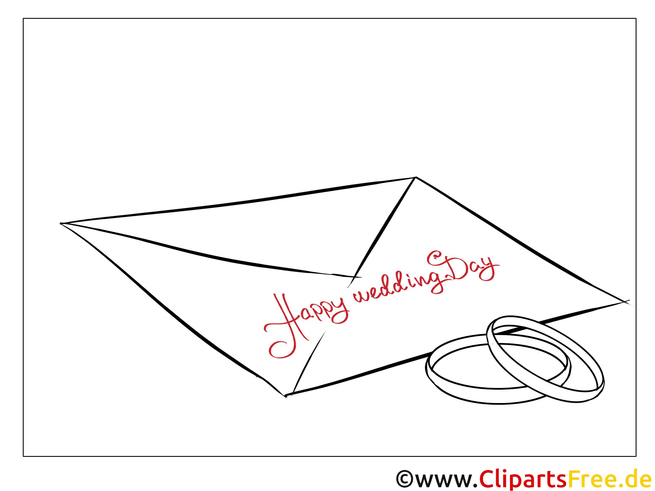 Umschlag Ringe Malvorlagen-Glückwünsche zur Hochzeit