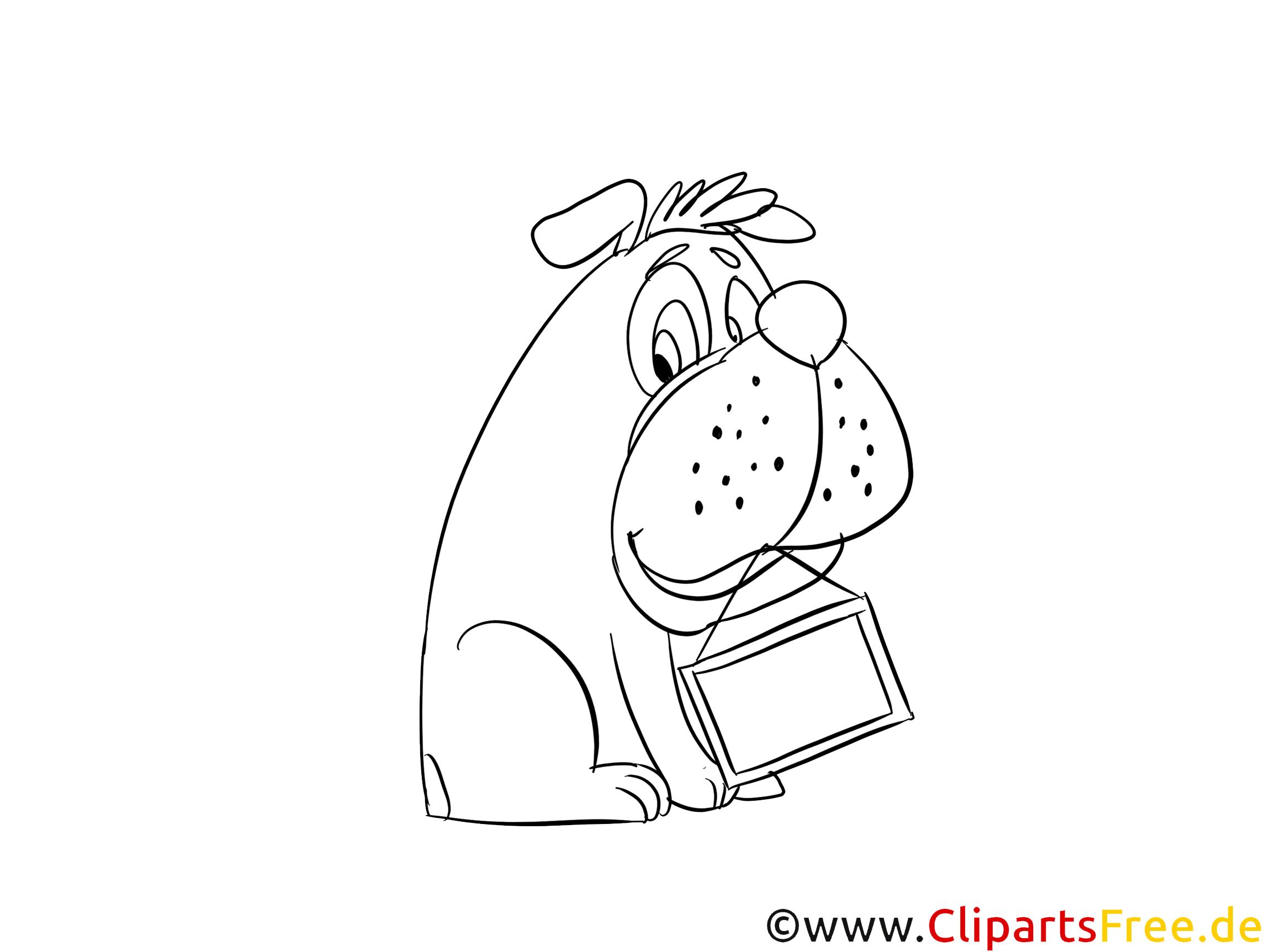 Bulldogge Ausmalbild zum Ausdrucken und Ausmalen kostenlos