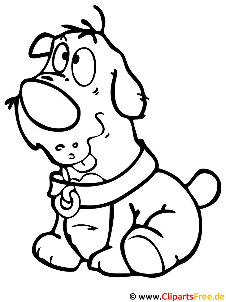 Hund Ausmalbild kostenlos