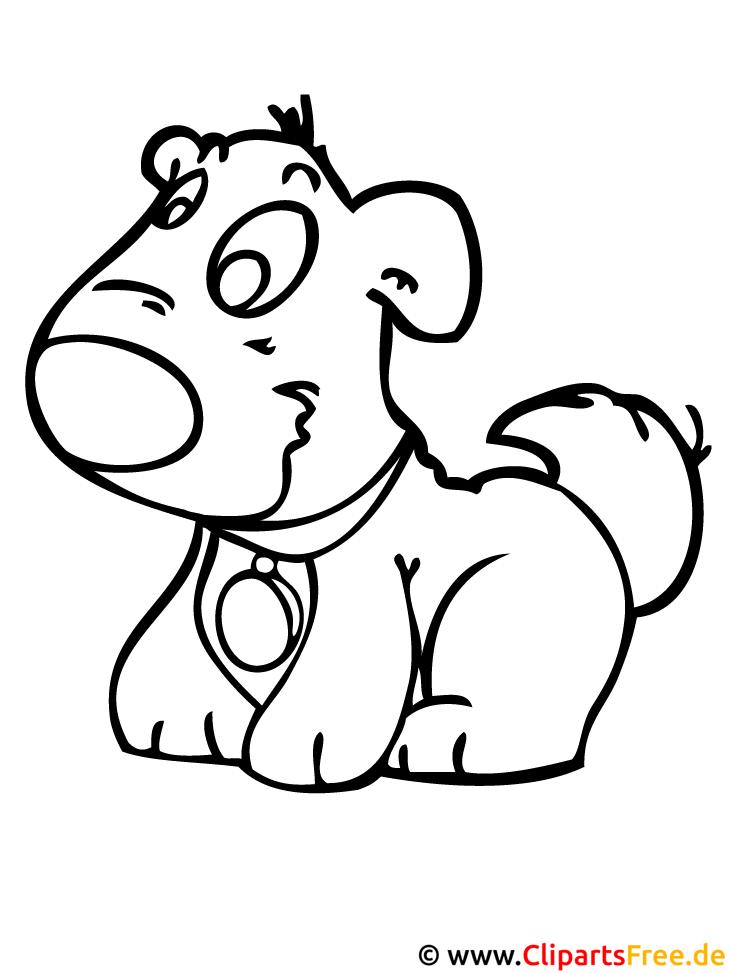 Hund Vorlage zum Ausmalen gratis