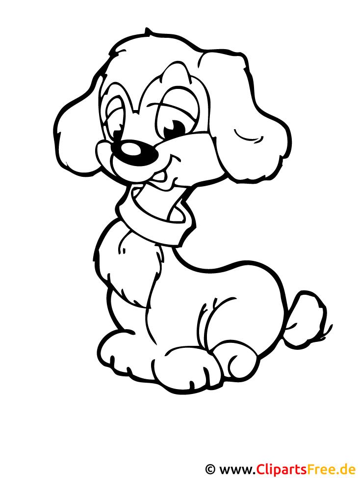 Hund Window Colour Vorlage