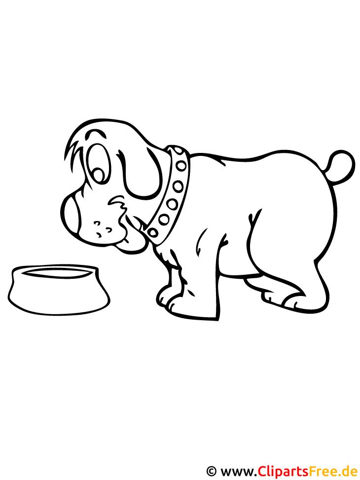 Kostenlose Malvorlage Hund