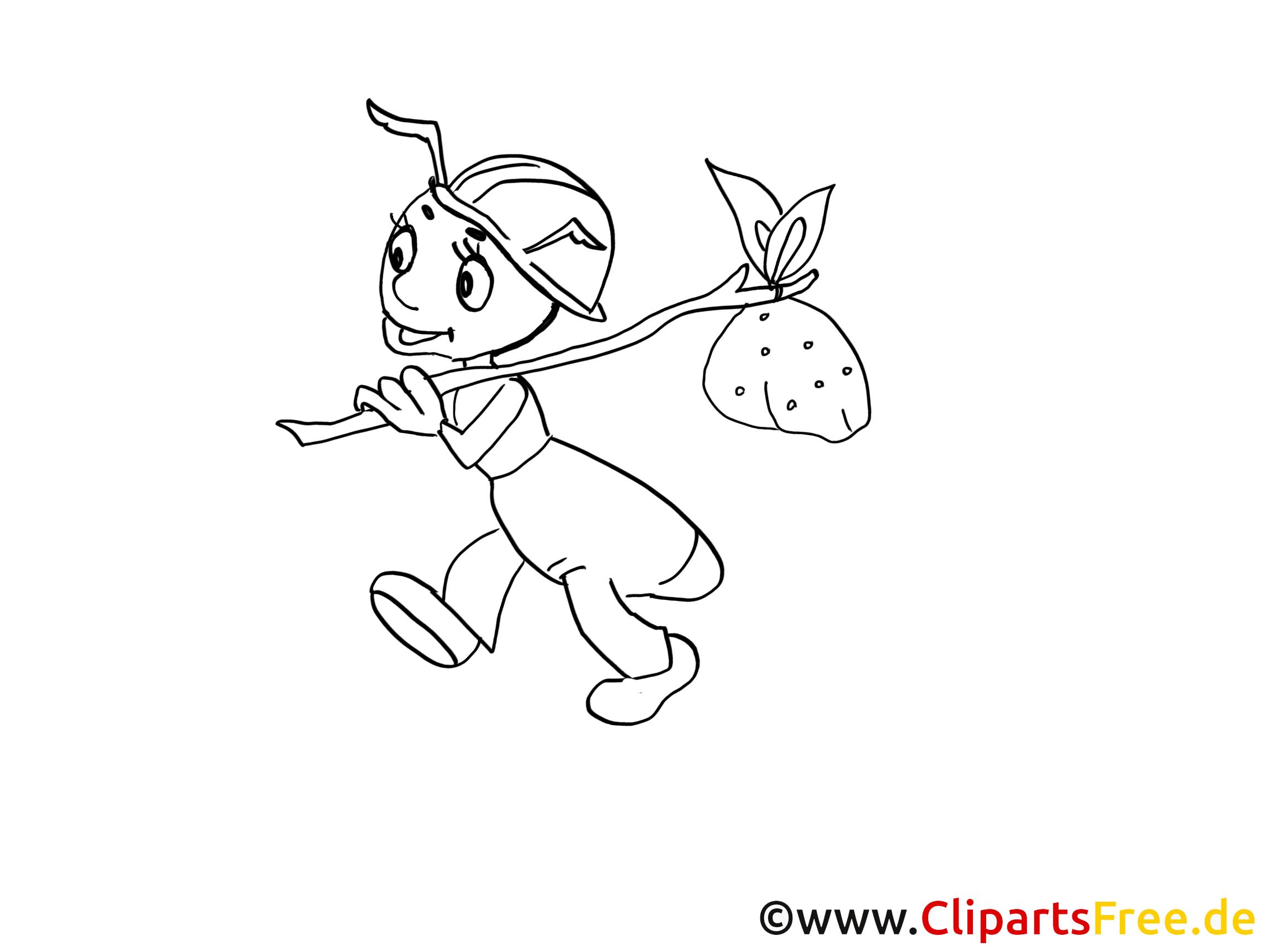 Ausmalbilder Ameise