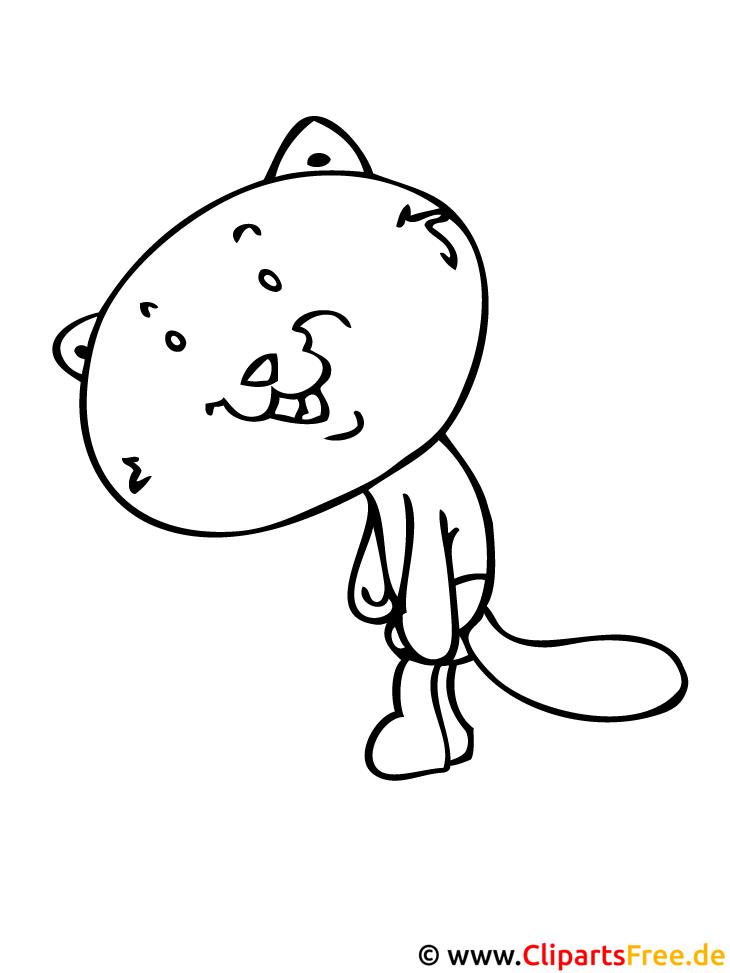 Katze Ausmalbild gratis