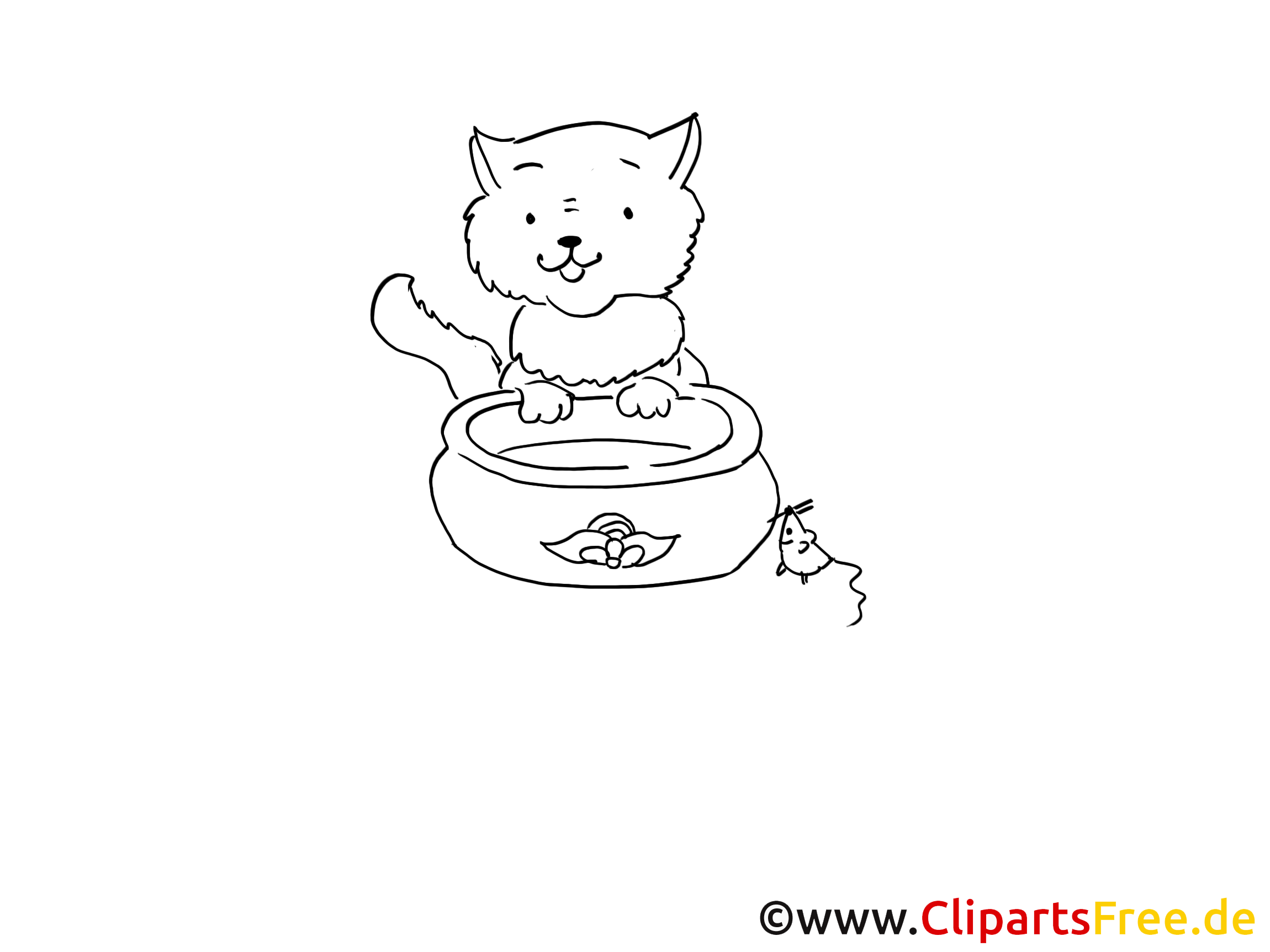 Katze Bild zum Malen