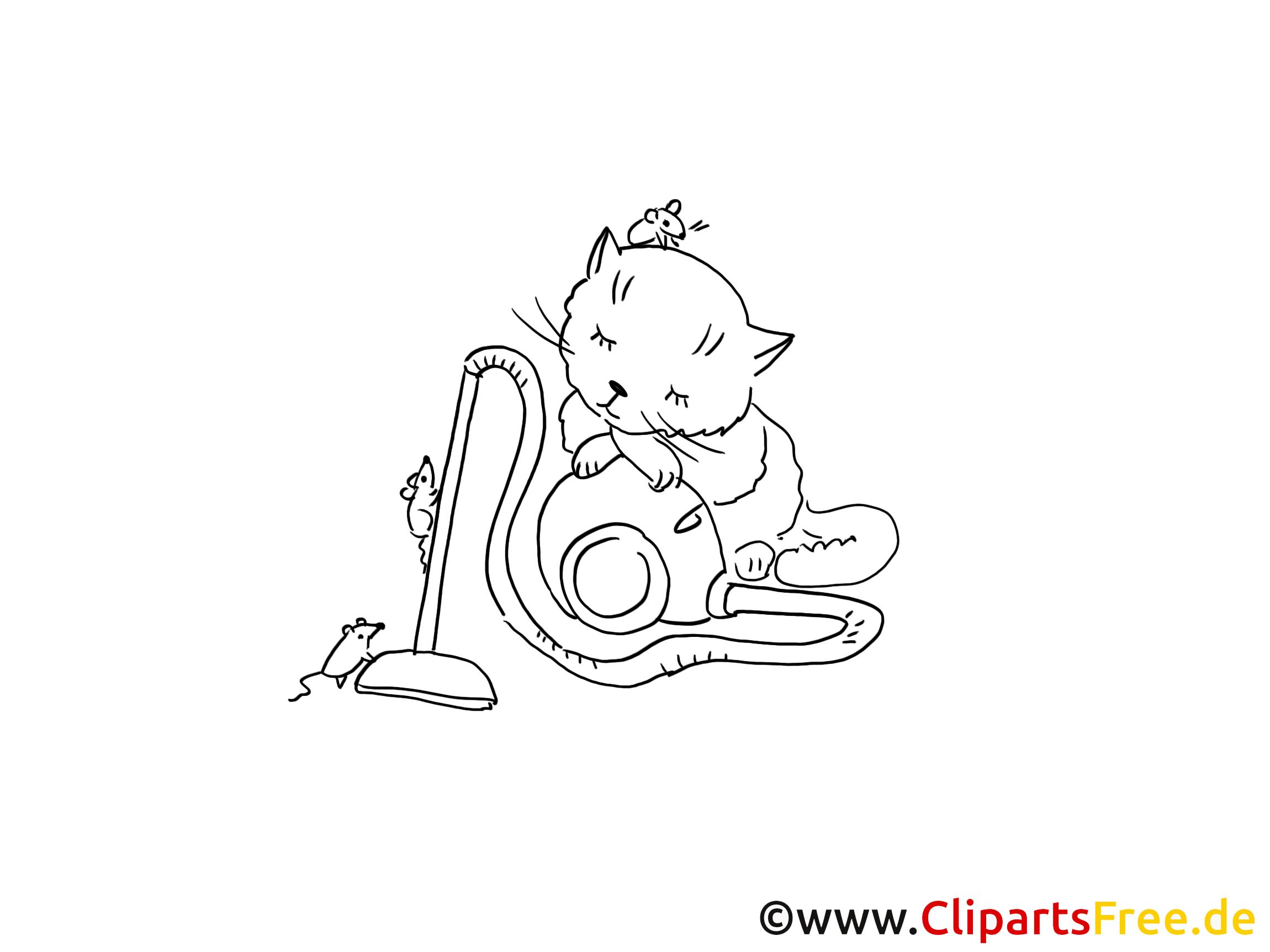 Schlafende Katze Grafik, Bild, Malvorlage zum Ausdrucken und Ausmalen
