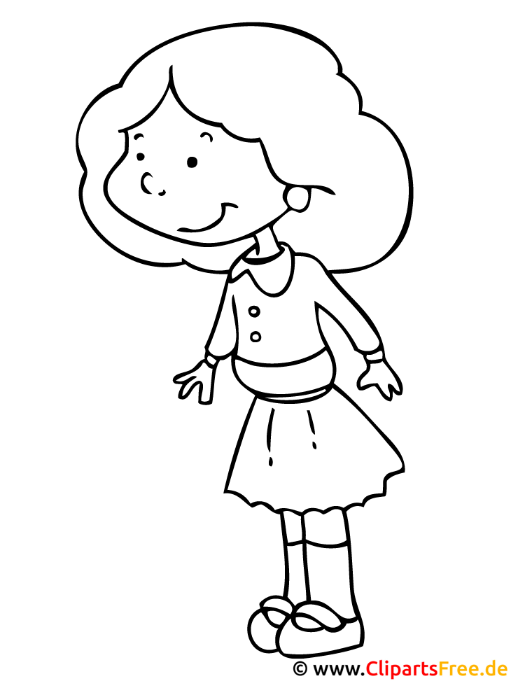 Mädchen - Kinder Malvorlagen gratis