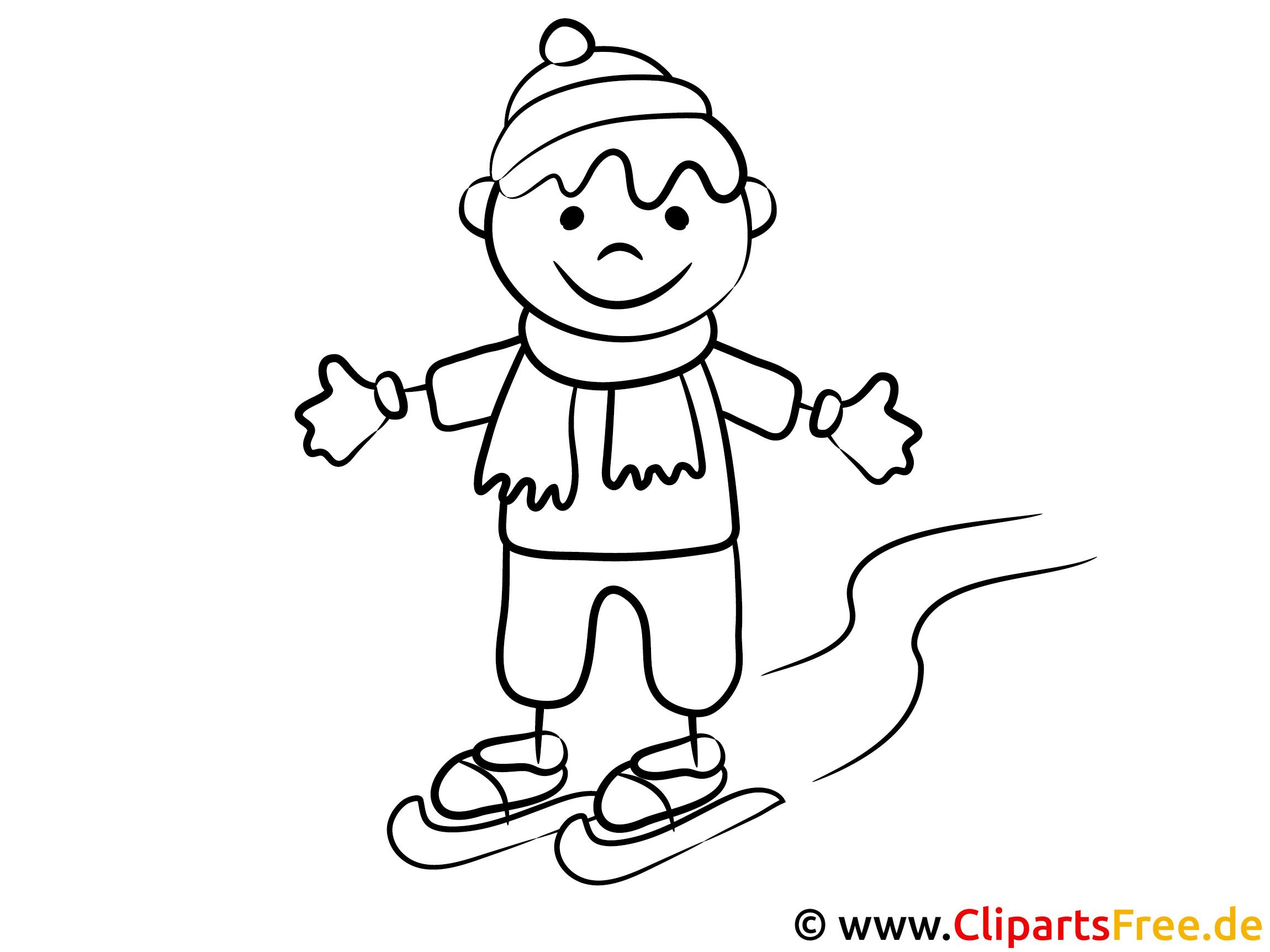 junge läuft schlittschuh ausmalbilder für kinder kostenlos