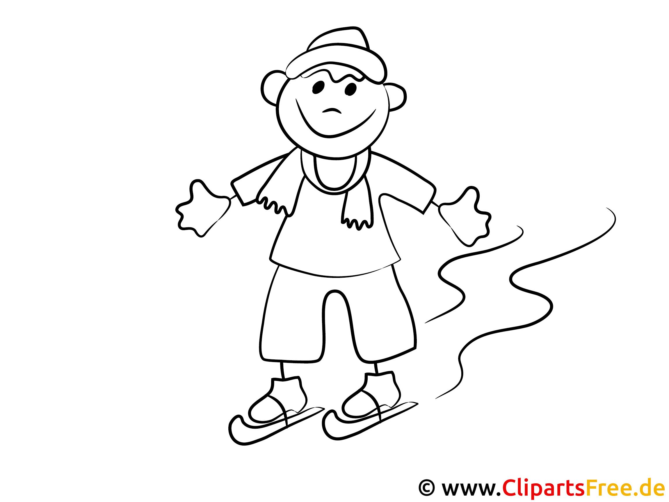 Junge läuft Schlittschuh Malvorlagen und kostenlose Ausmalbilder