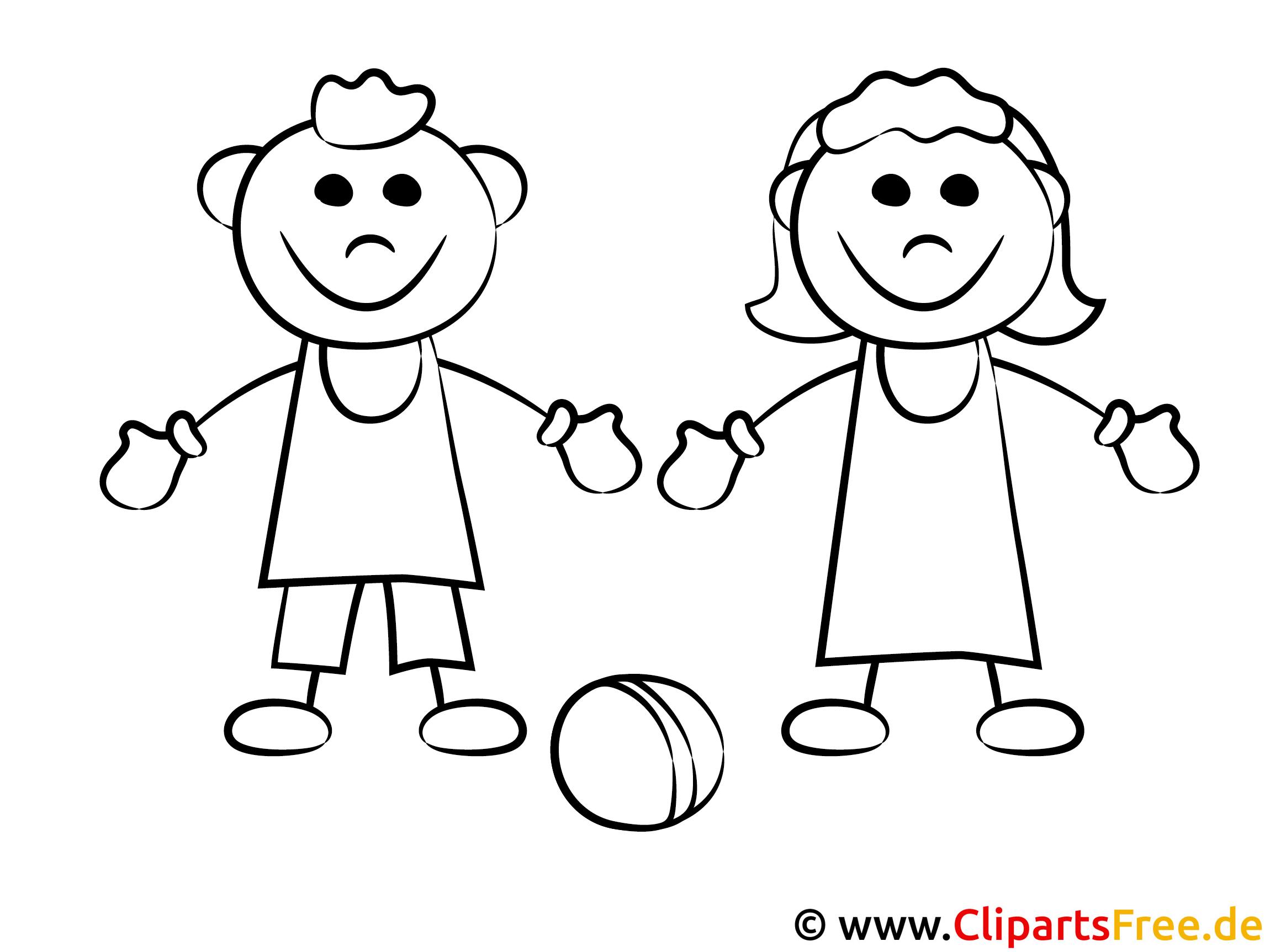 kinder spielen mit dem ball ausmalbilder
