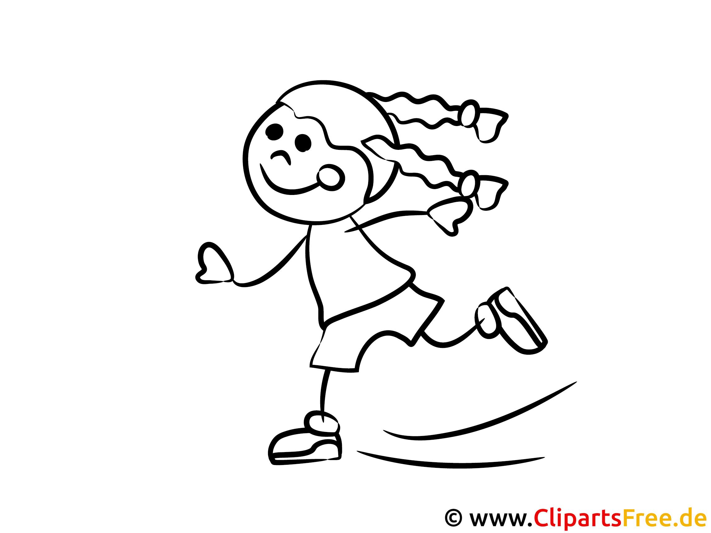 mädchen läuft auf schlittschuhen ausmalbilder für kinder