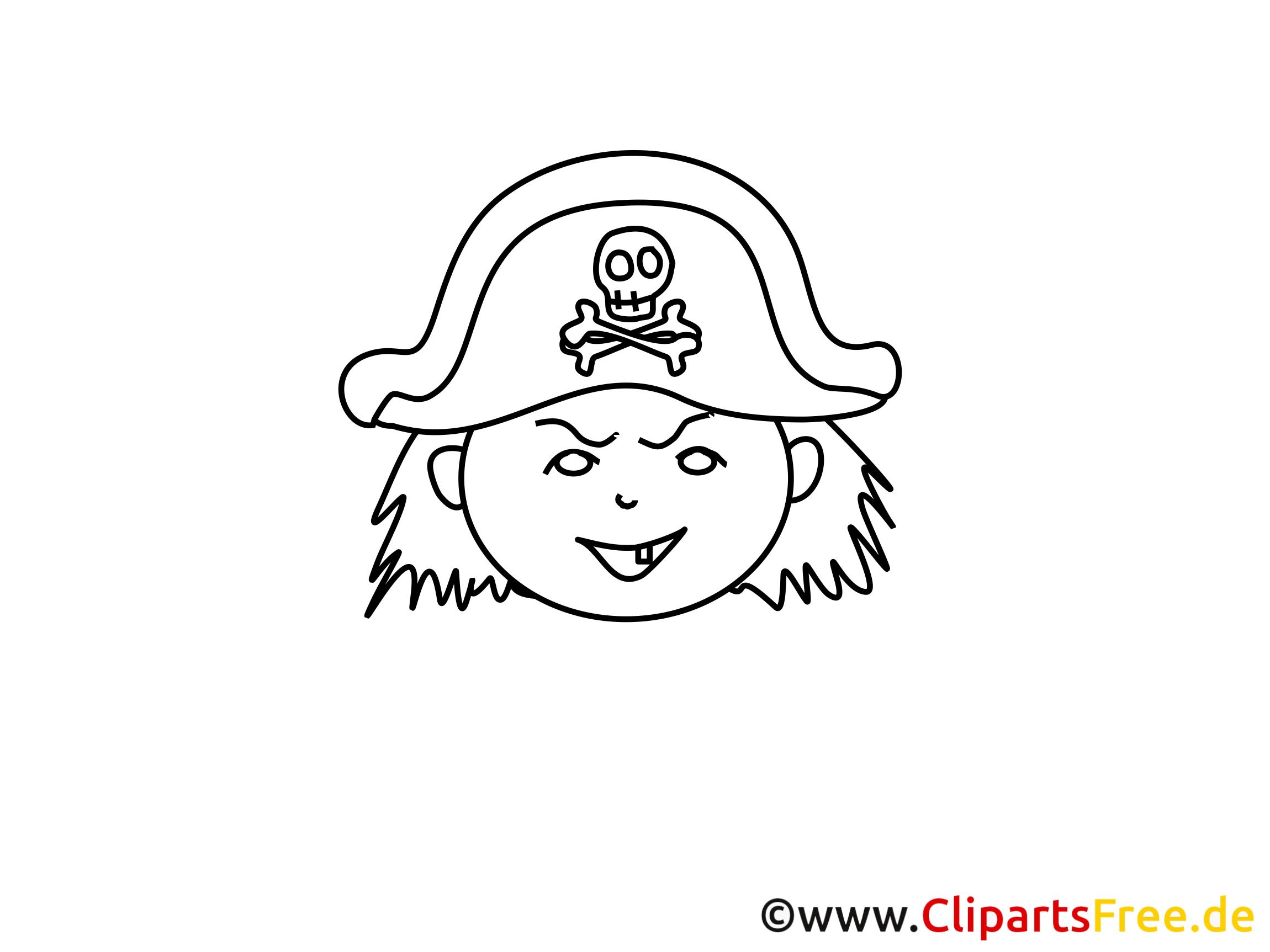 pirat bildmalvorlage