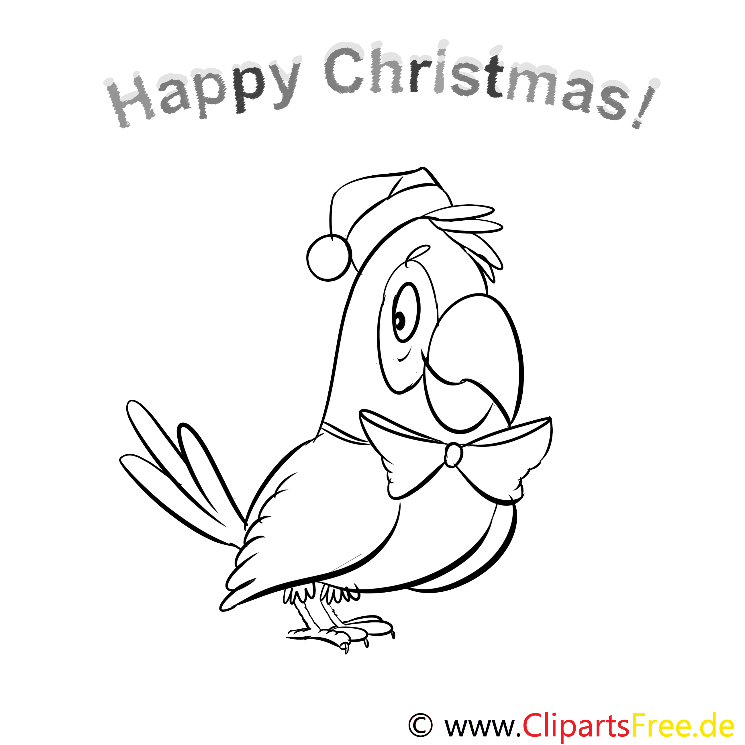 papagei schleife merry christmas coloring sheets malvorlagen