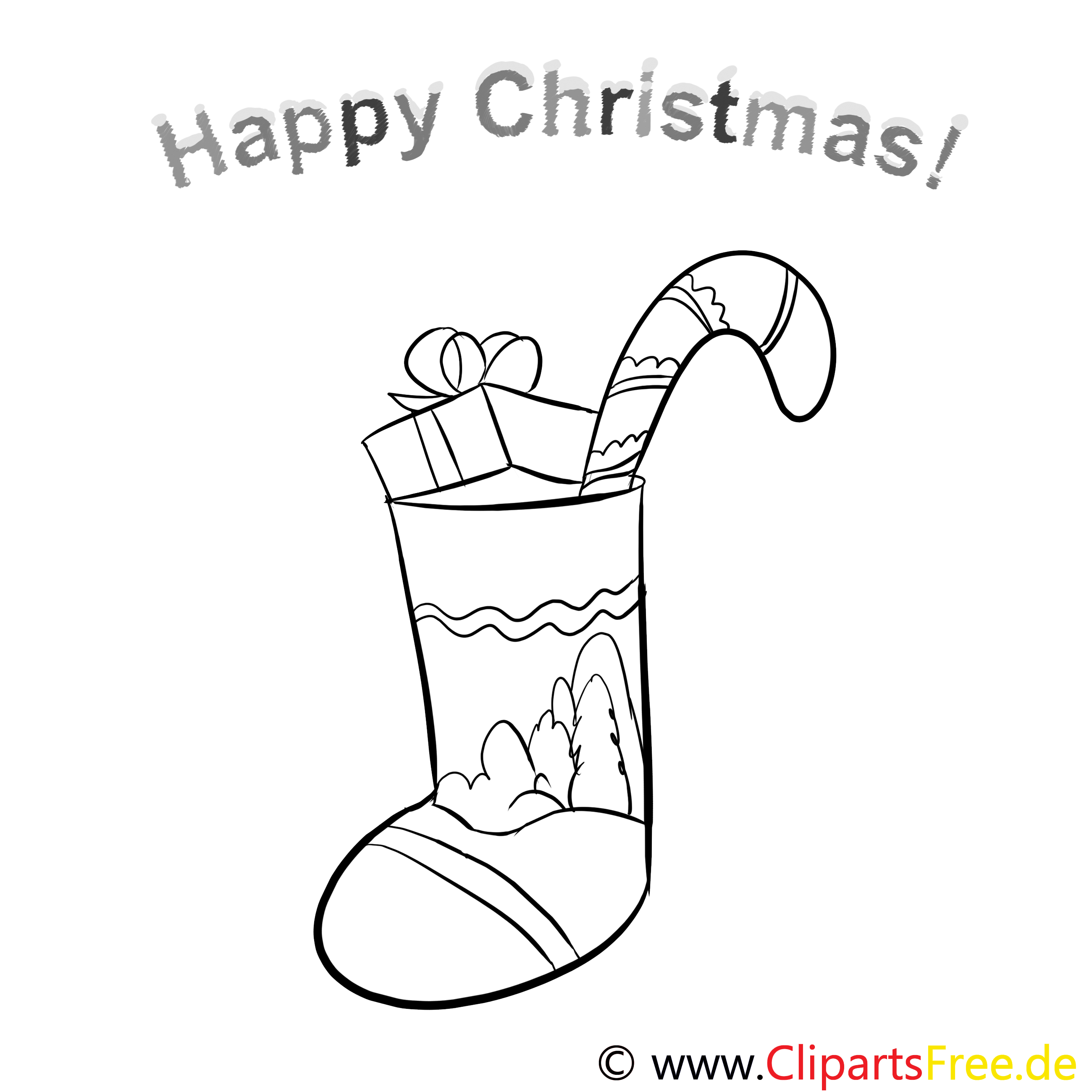 weihnachtsstrupf geschenk happy christmas pages to color