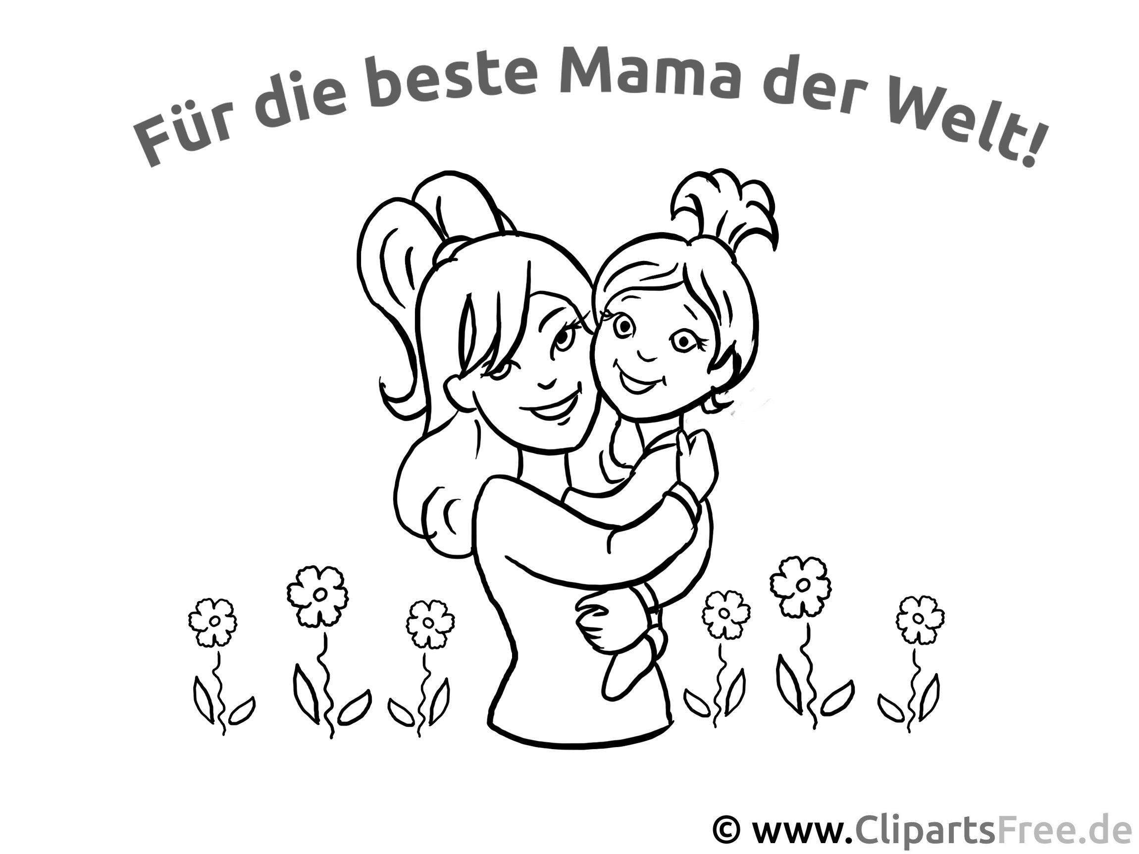 Mama mit Kind - Glückwunschkarten zum Muttertag selbst basteln