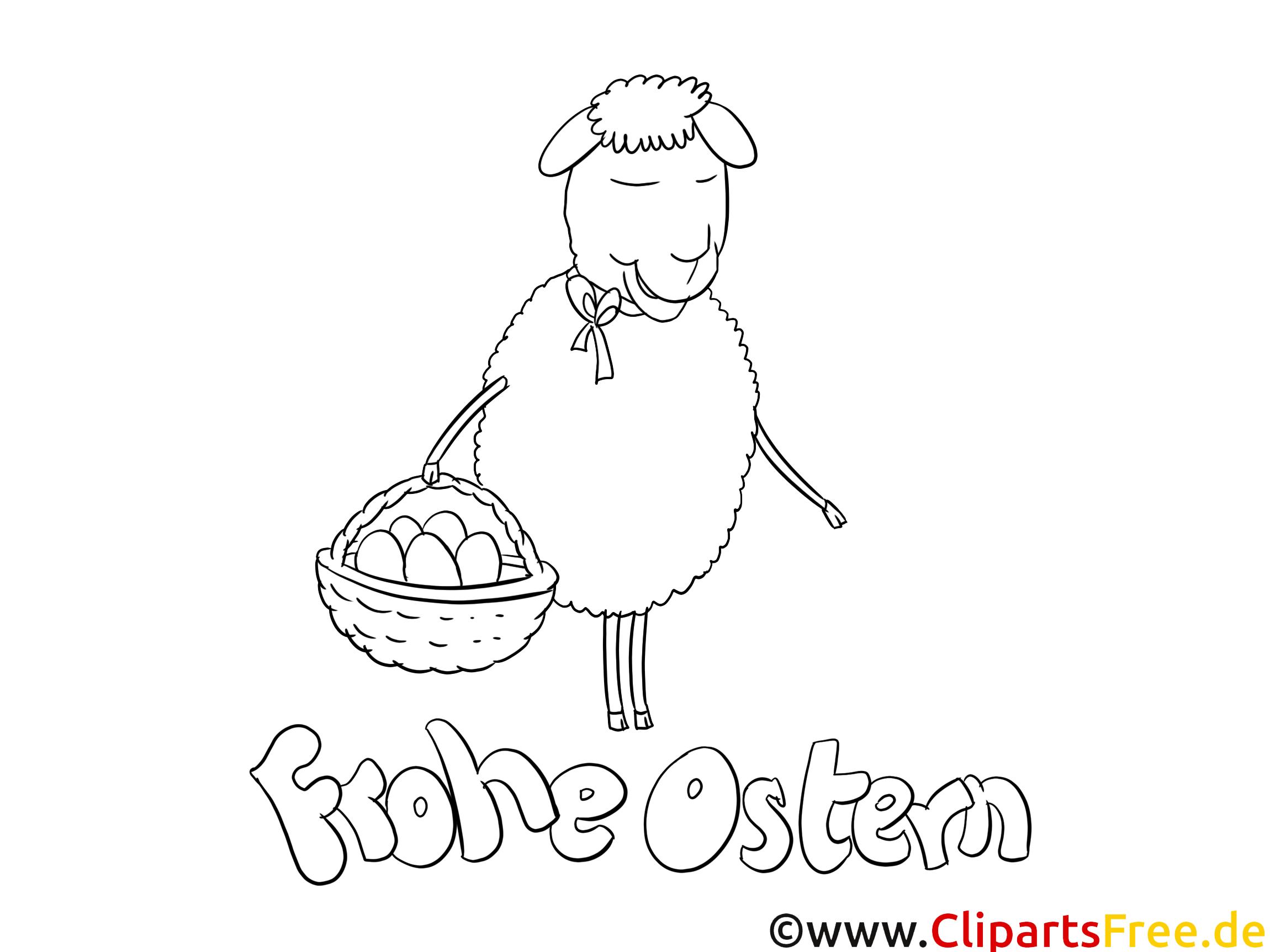 Aus Mal Bild Schaf zu Ostern
