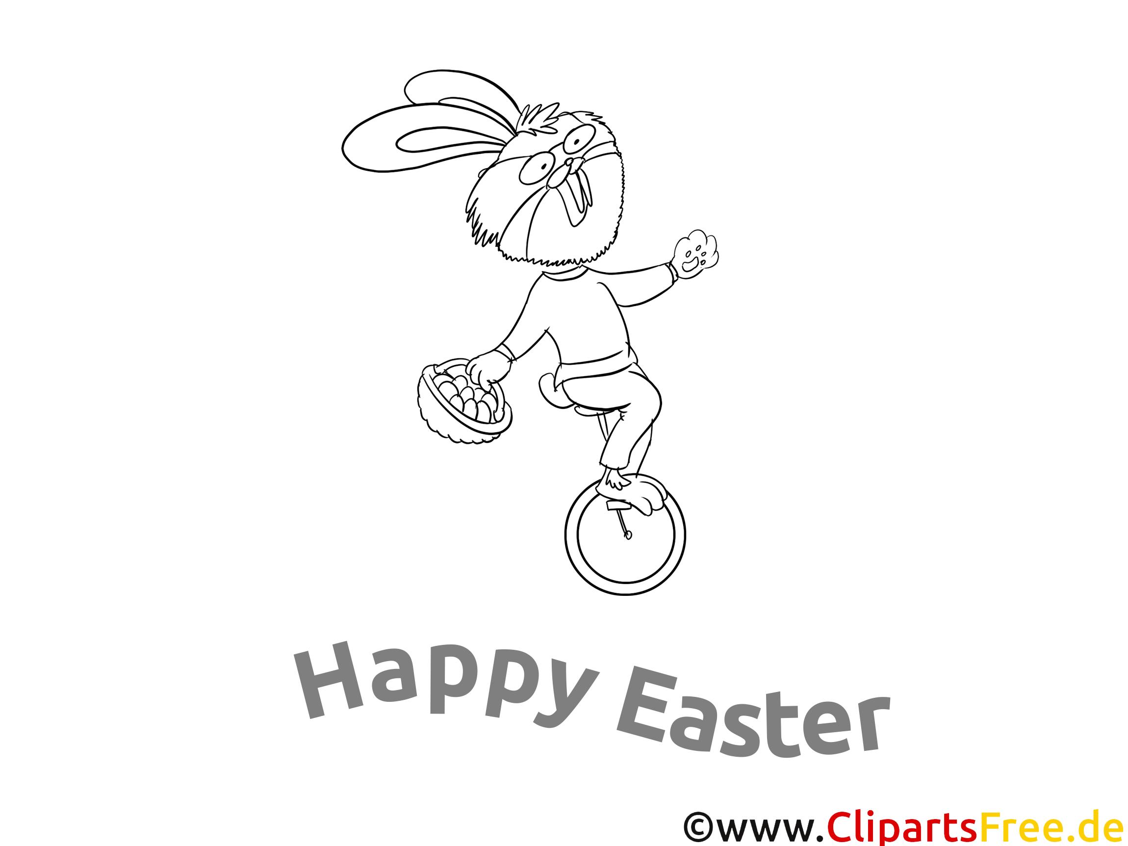 Ausmal Bilder kostenlos für Ostern