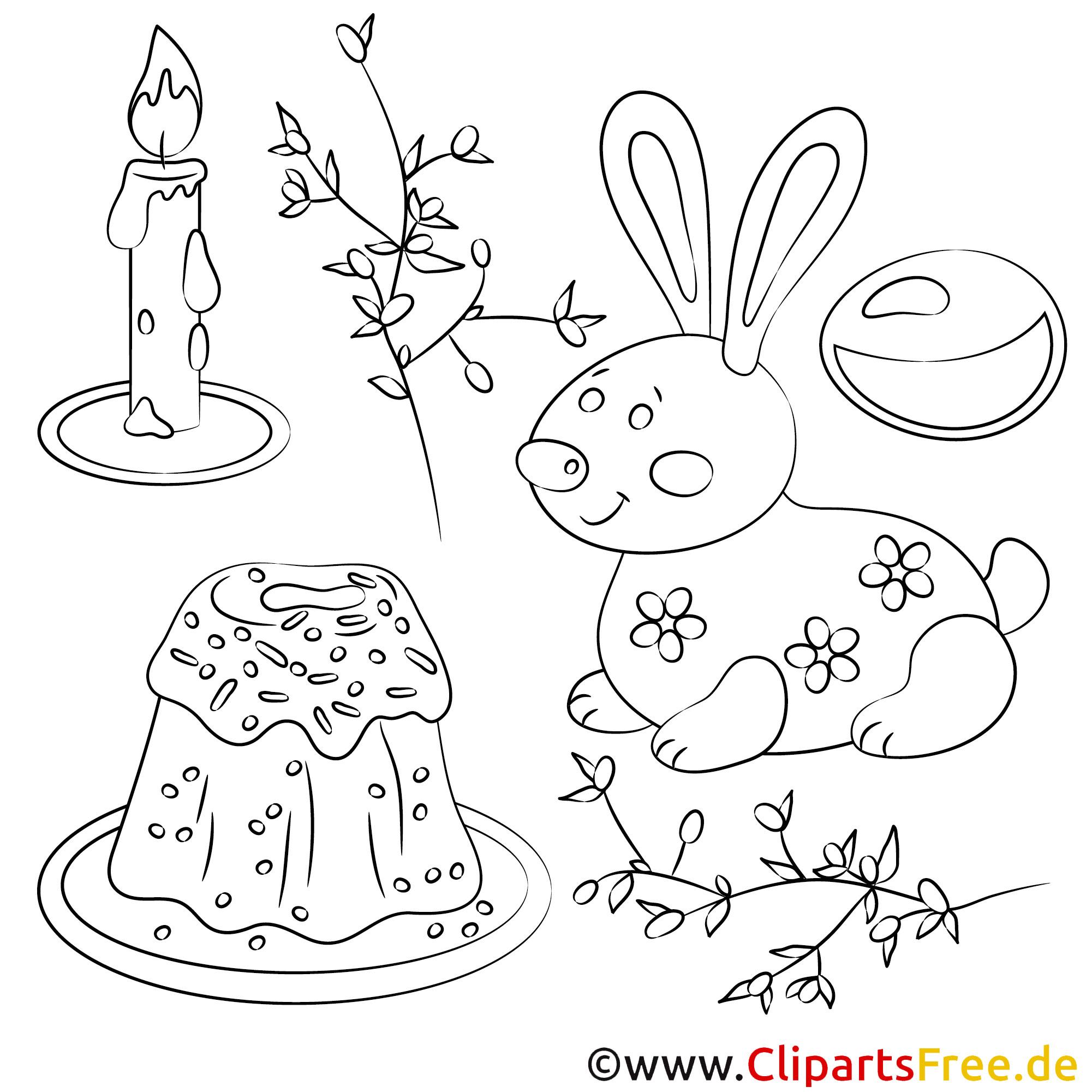 Ausmalbilder von Ostern zum Drucken