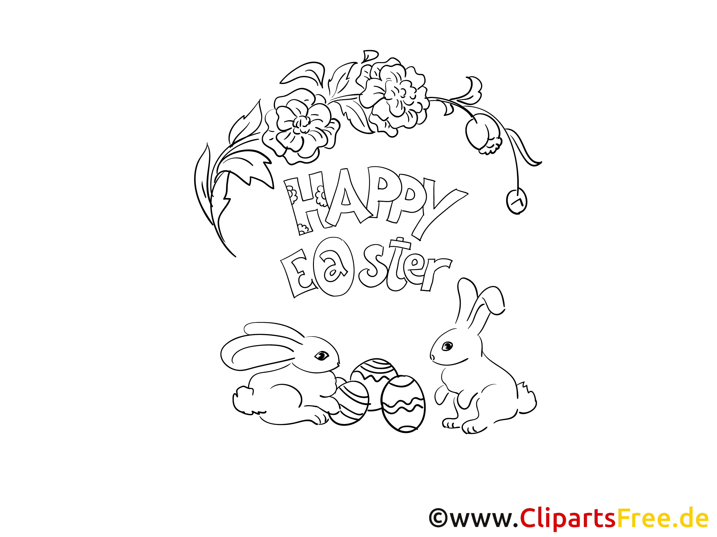 Coloring for Easter PDF
