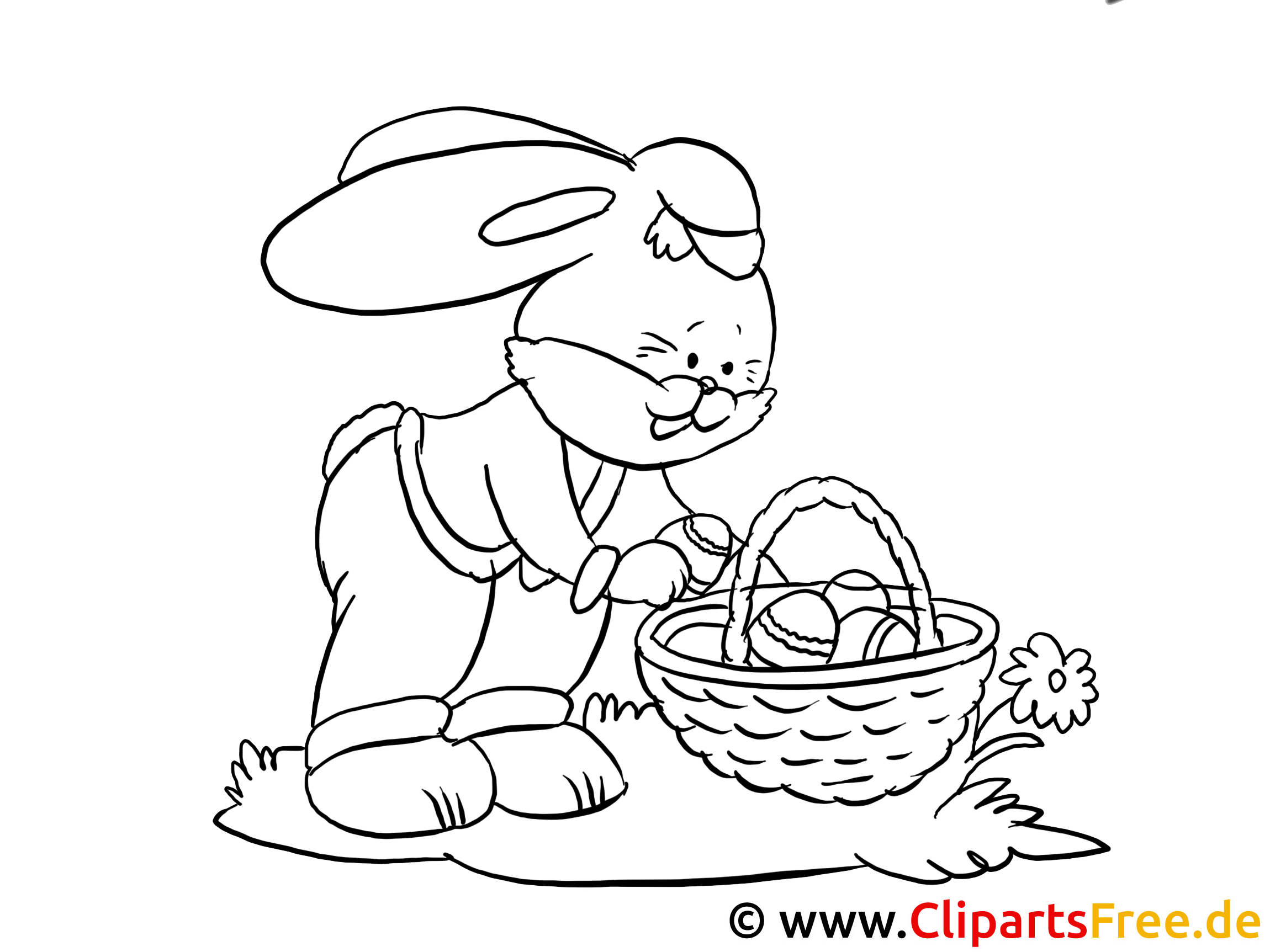 Easter Bunny Coloring Sheet PDF