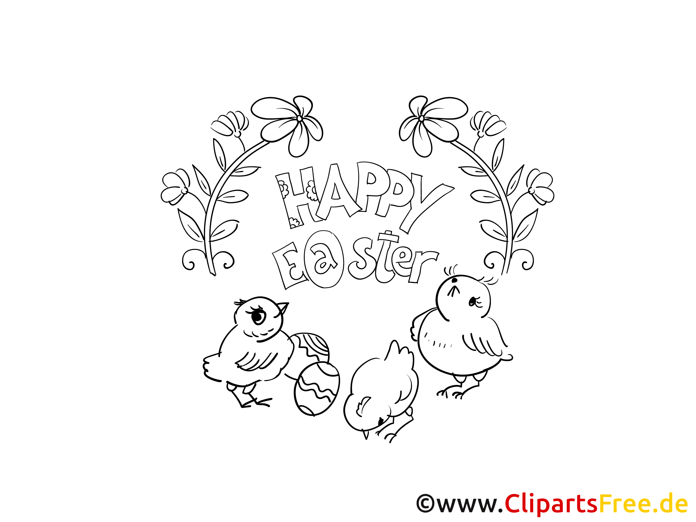 Easter Coloring Sheet PDF