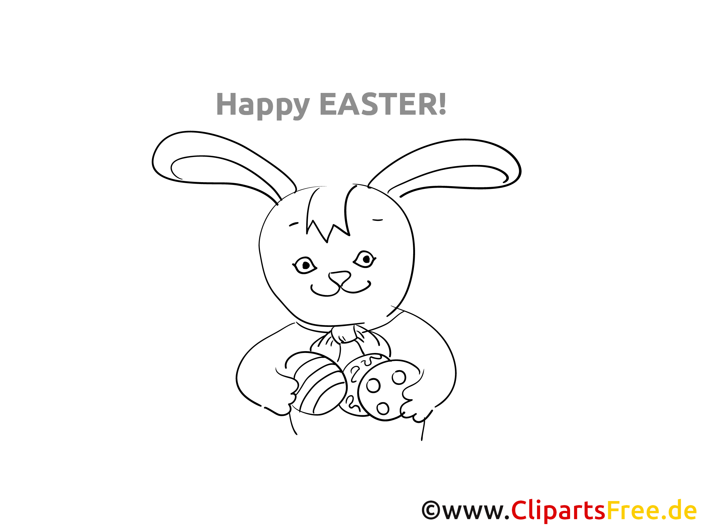 Easter Rabbit Coloring Sheet PDF for free