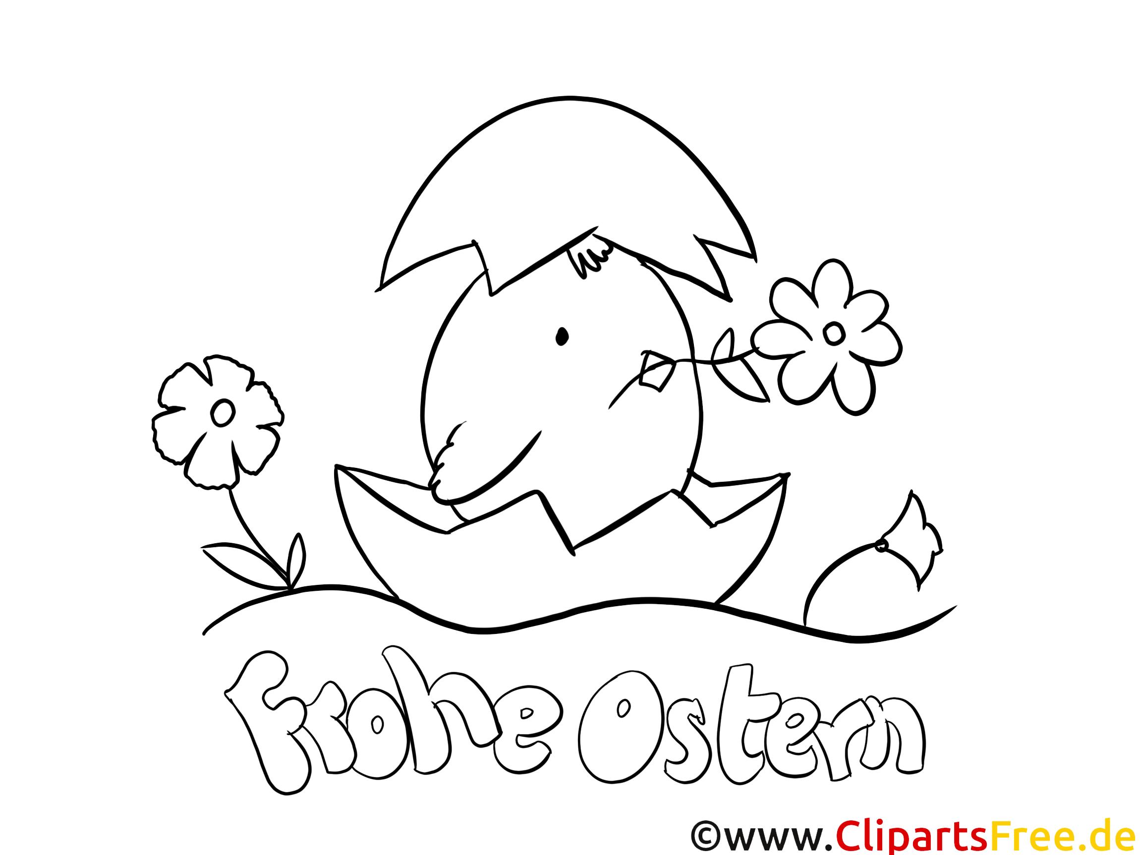 Frohe Ostern Malvorlagen PDF für Kindergarten
