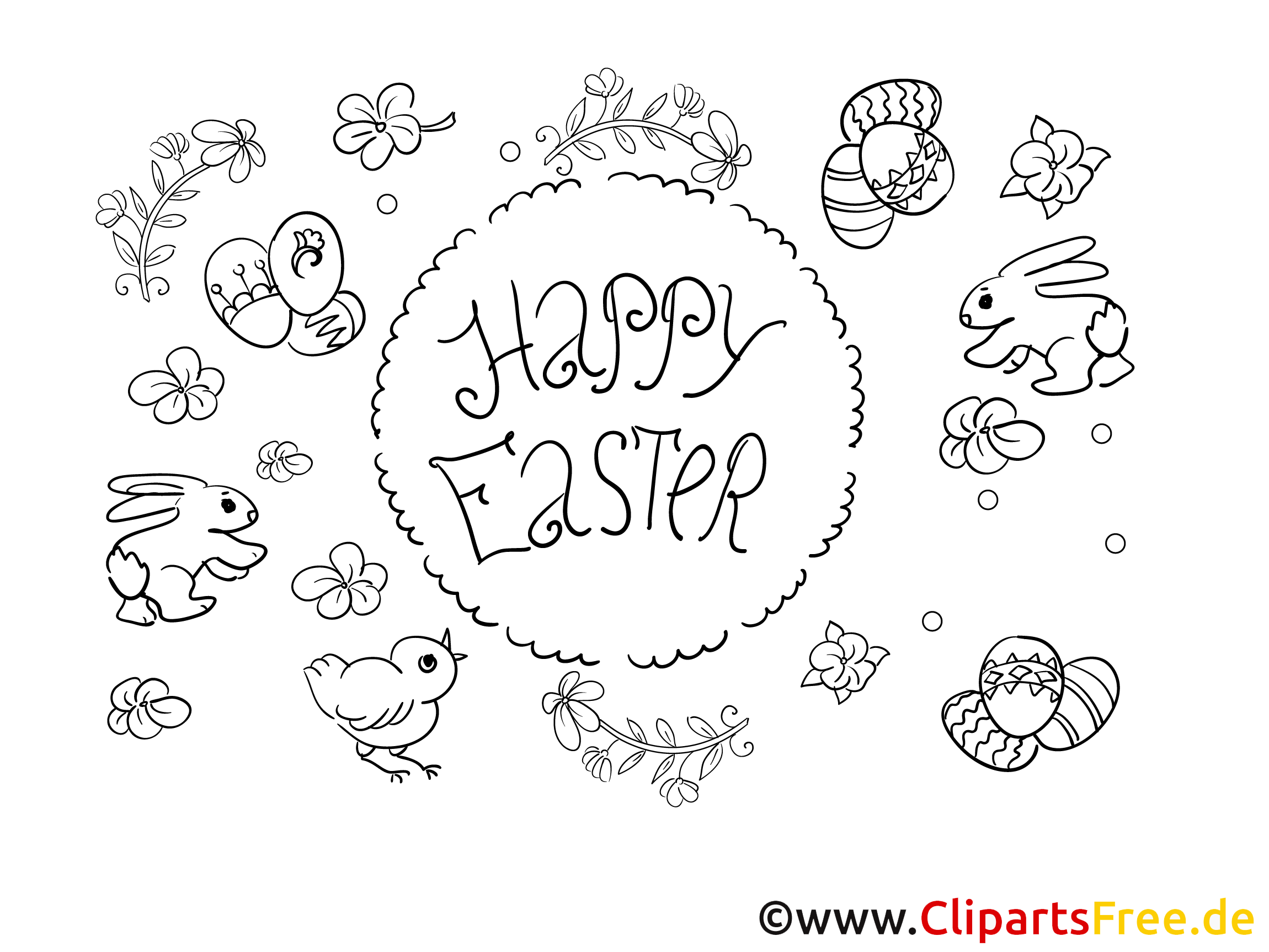 Happy Easter Colouring PDF