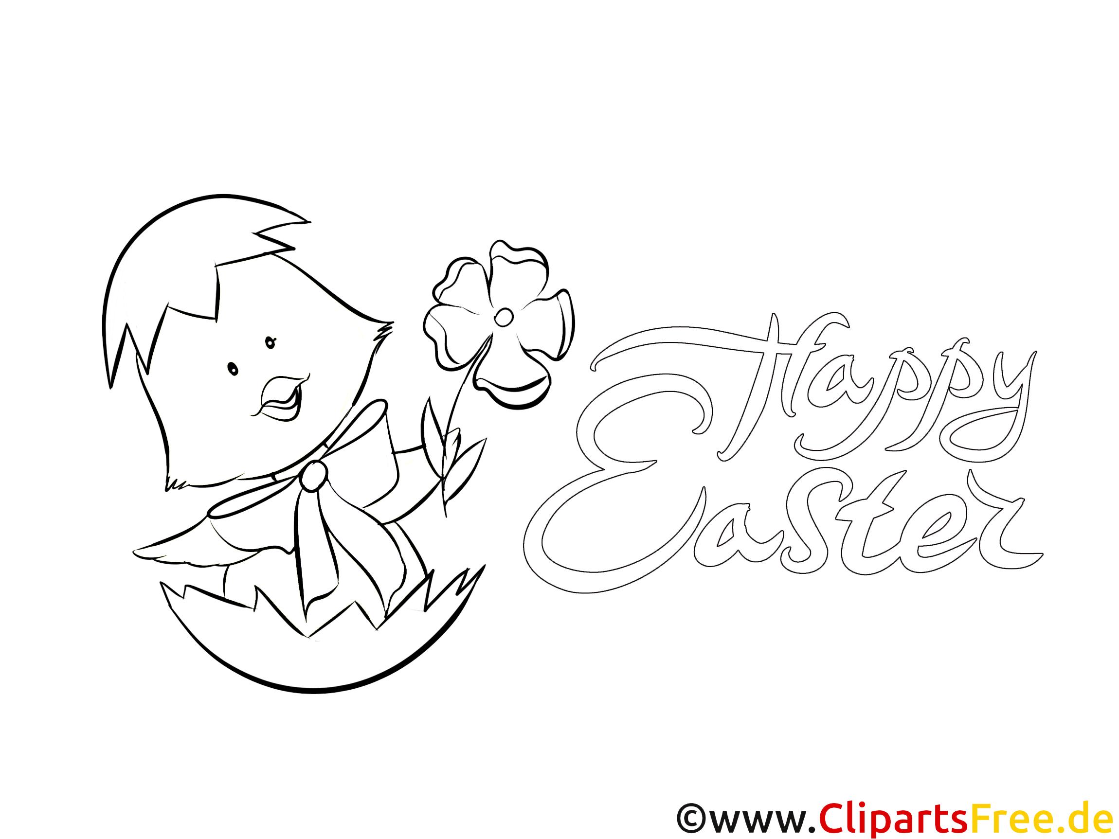 Küken Blume Kostenlose Ausmalbilder zum Thema Ostern