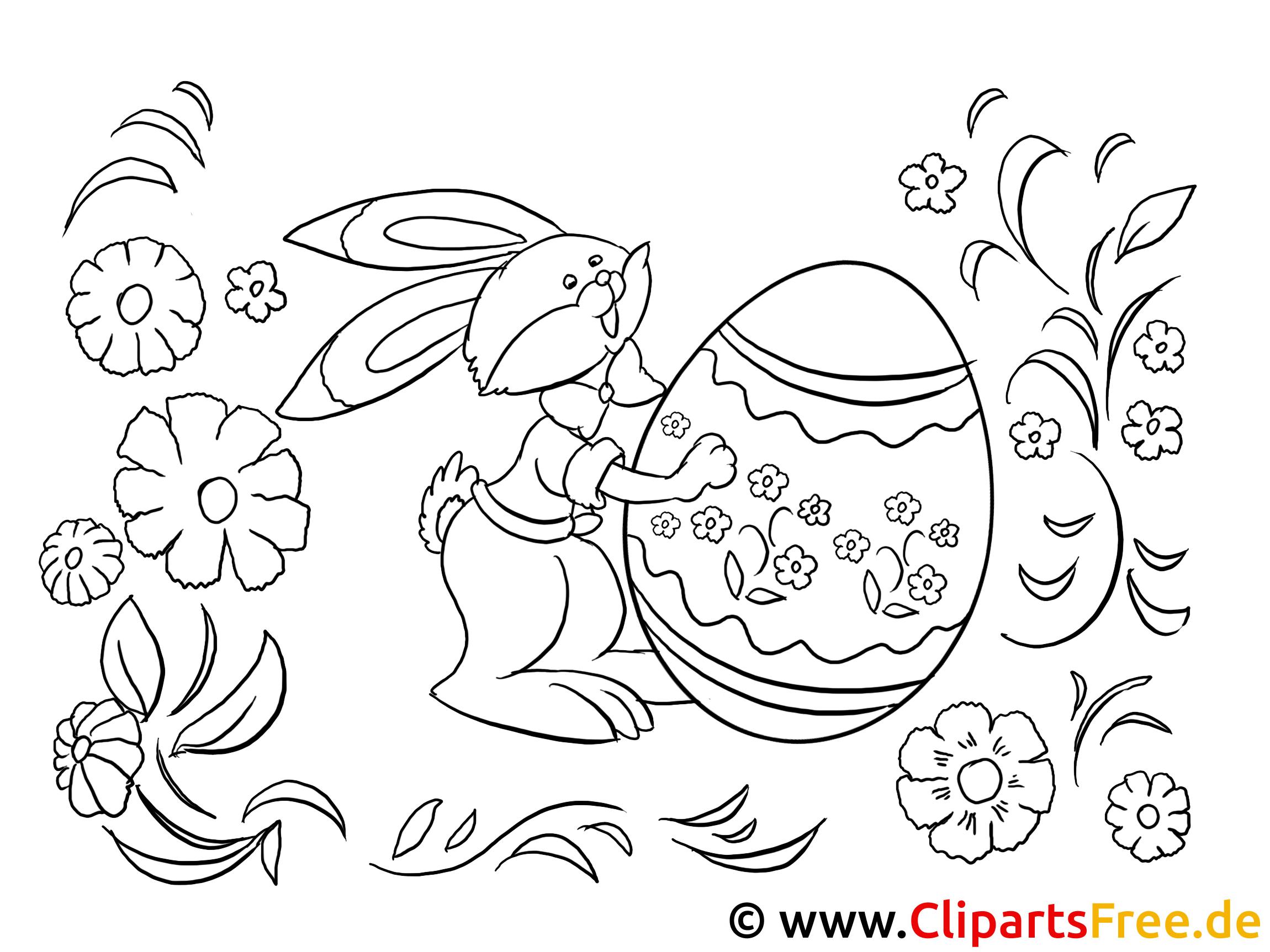 Lustige Osterbilder zum Ausdrucken und Malen