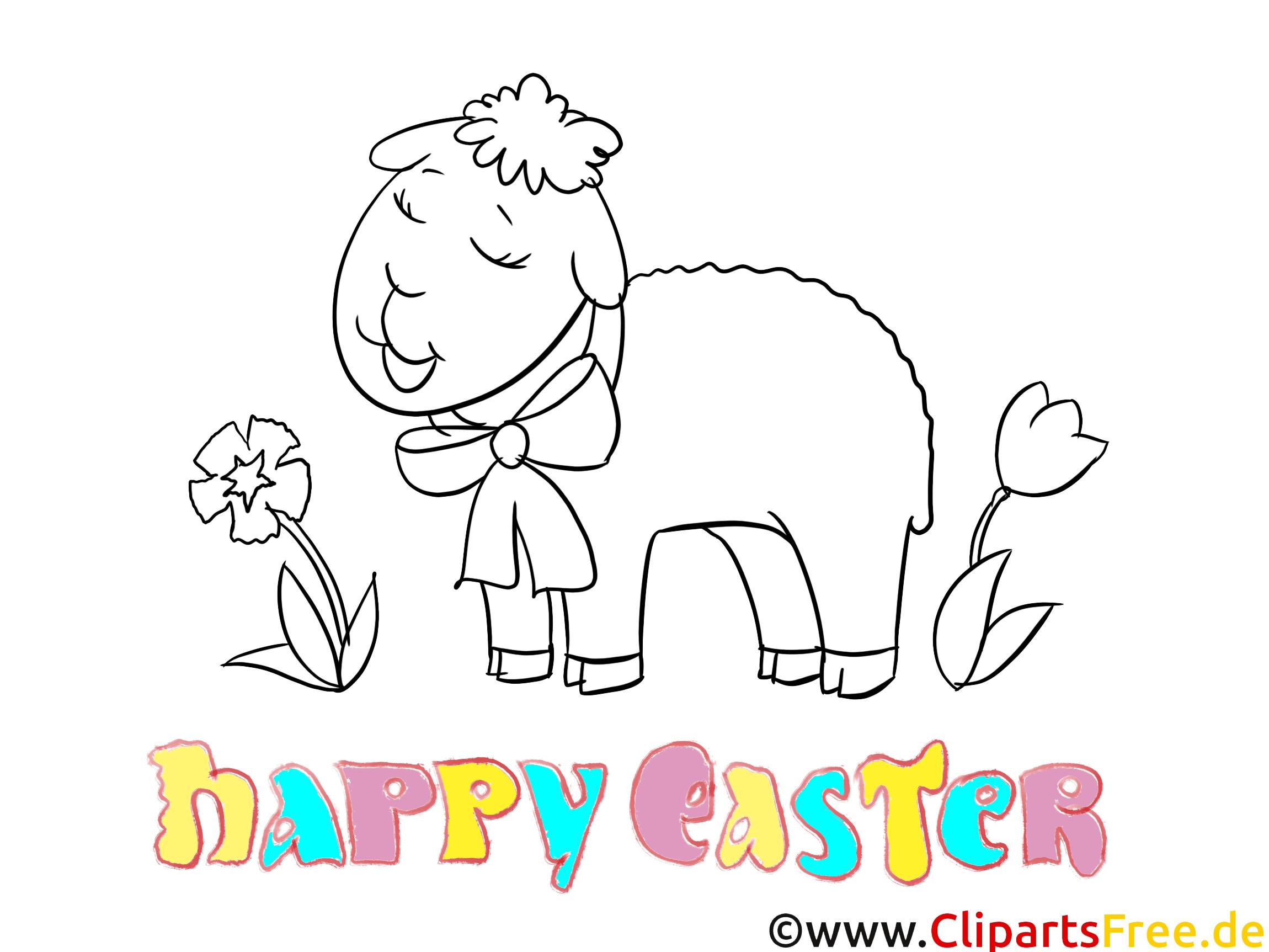Mal Bilder zu Ostern - Schaf Malbild