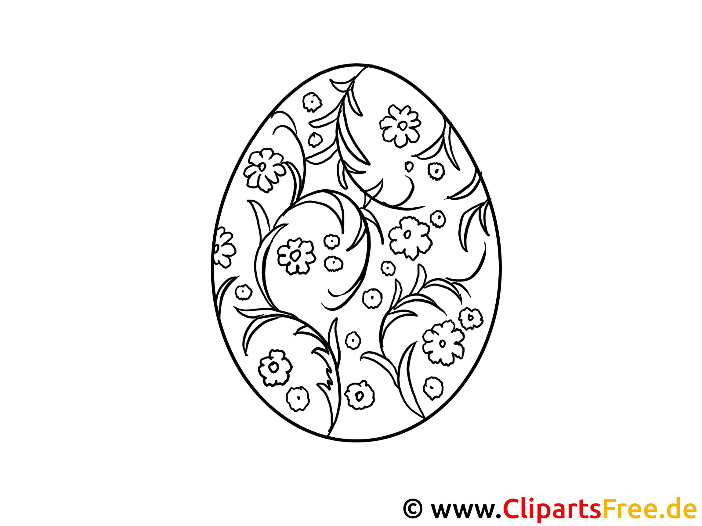 Malbilder zum Ausdrucken zu Ostern