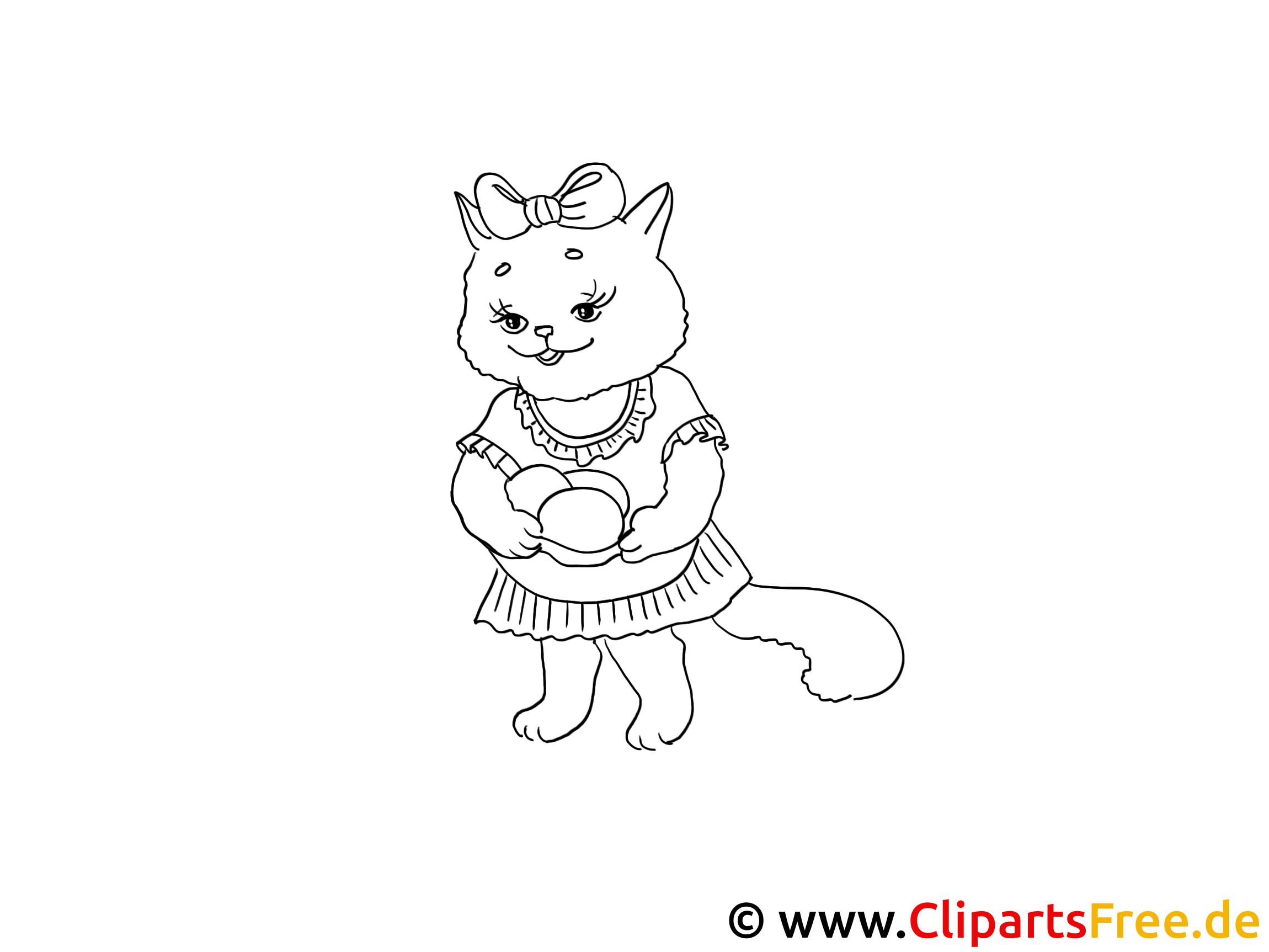 Malvorlage Katze zum Ausmalen