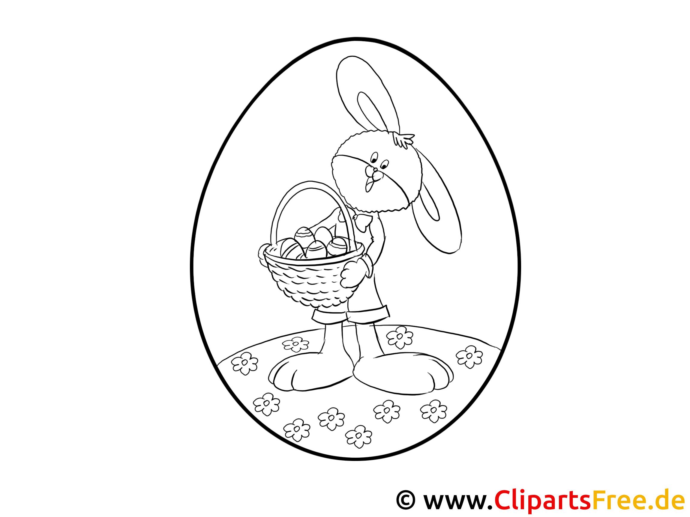 Osterdeko selbst basteln - Osterei mit Hase